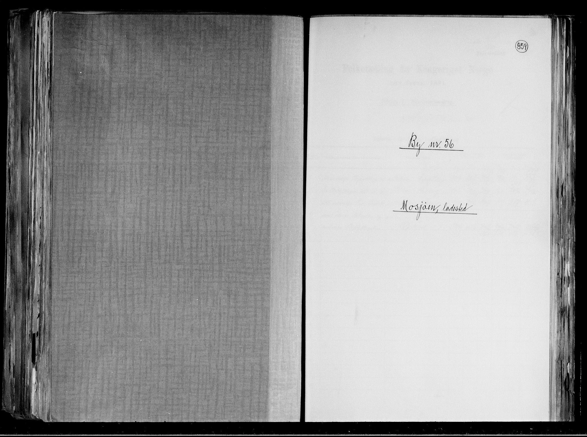 RA, Folketelling 1891 for 1802 Mosjøen ladested, 1891, s. 1