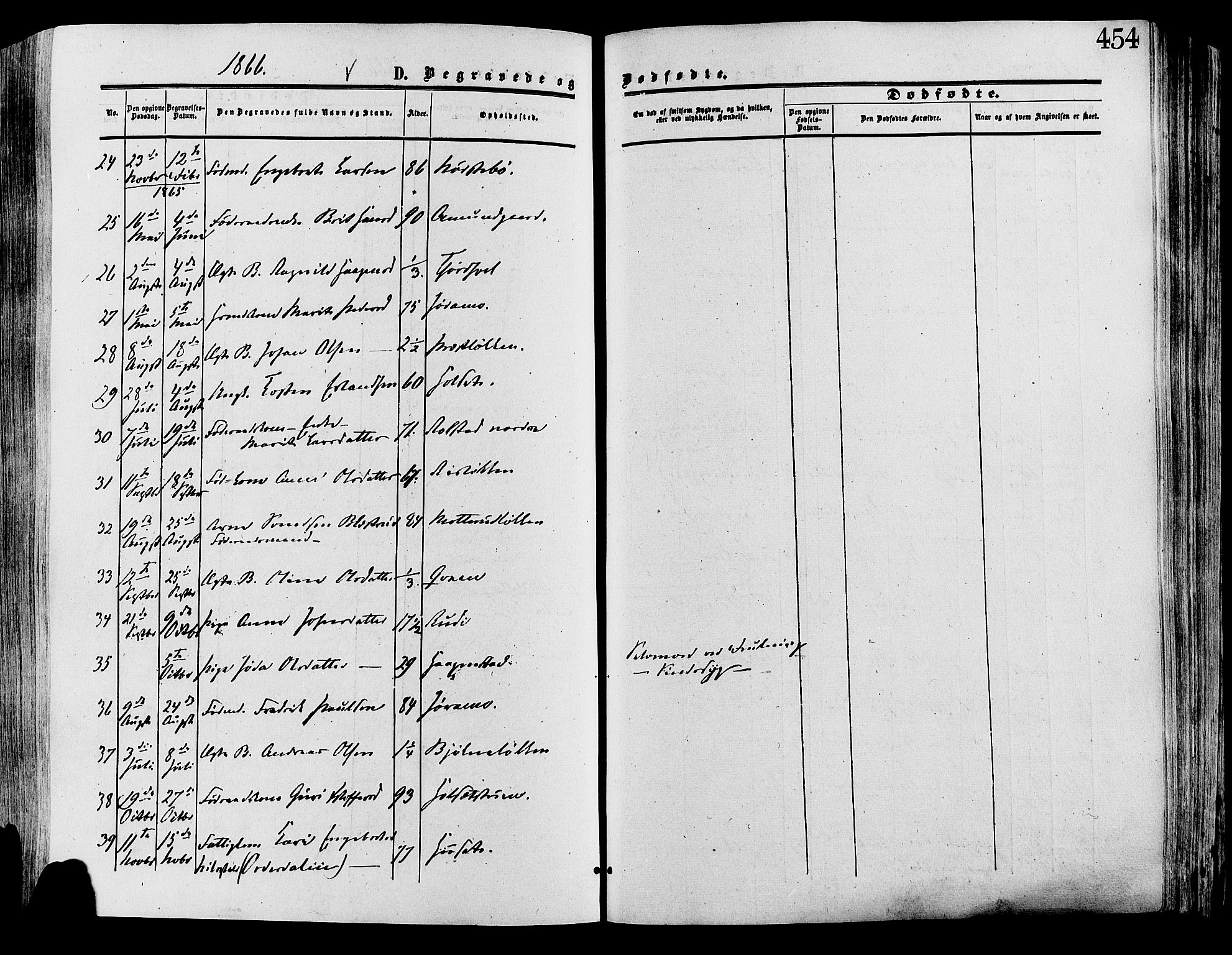 SAH, Lesja prestekontor, Ministerialbok nr. 8, 1854-1880, s. 454
