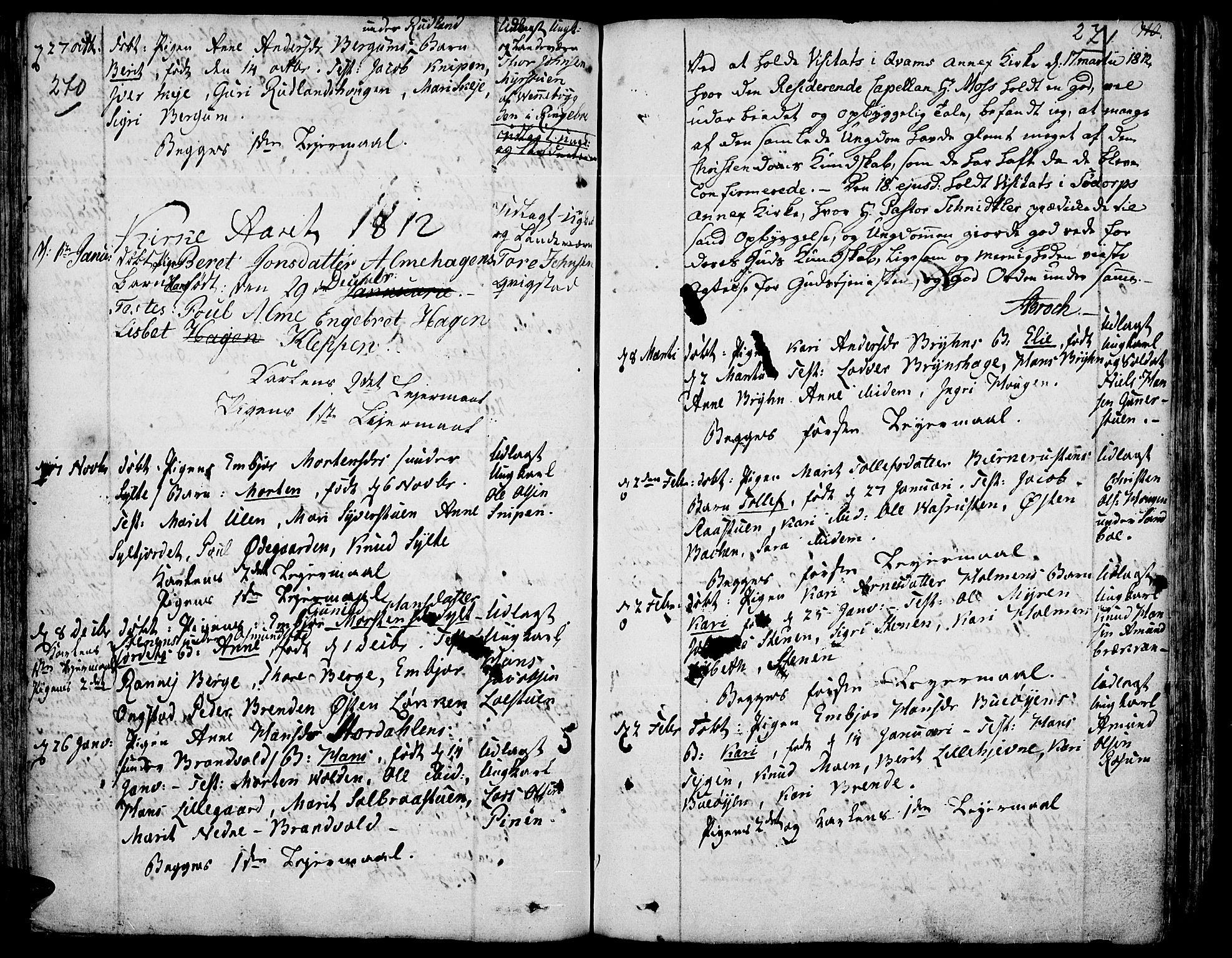 SAH, Fron prestekontor, H/Ha/Haa/L0001: Ministerialbok nr. 1, 1799-1816, s. 270-271