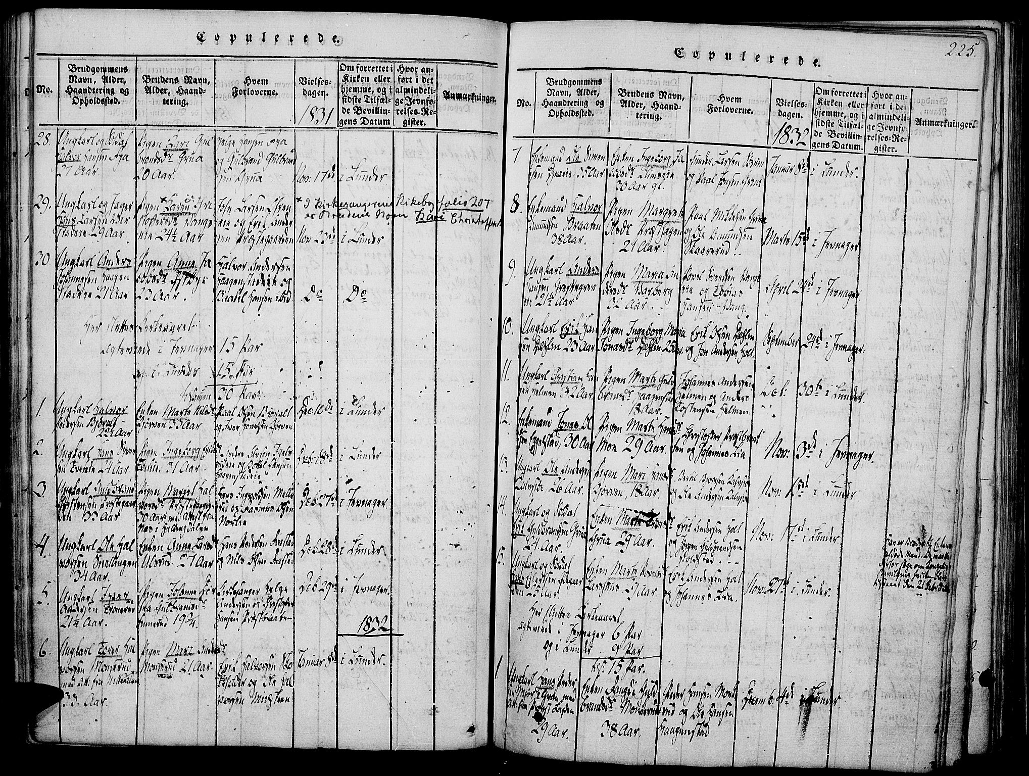 SAH, Jevnaker prestekontor, Ministerialbok nr. 5, 1815-1837, s. 225