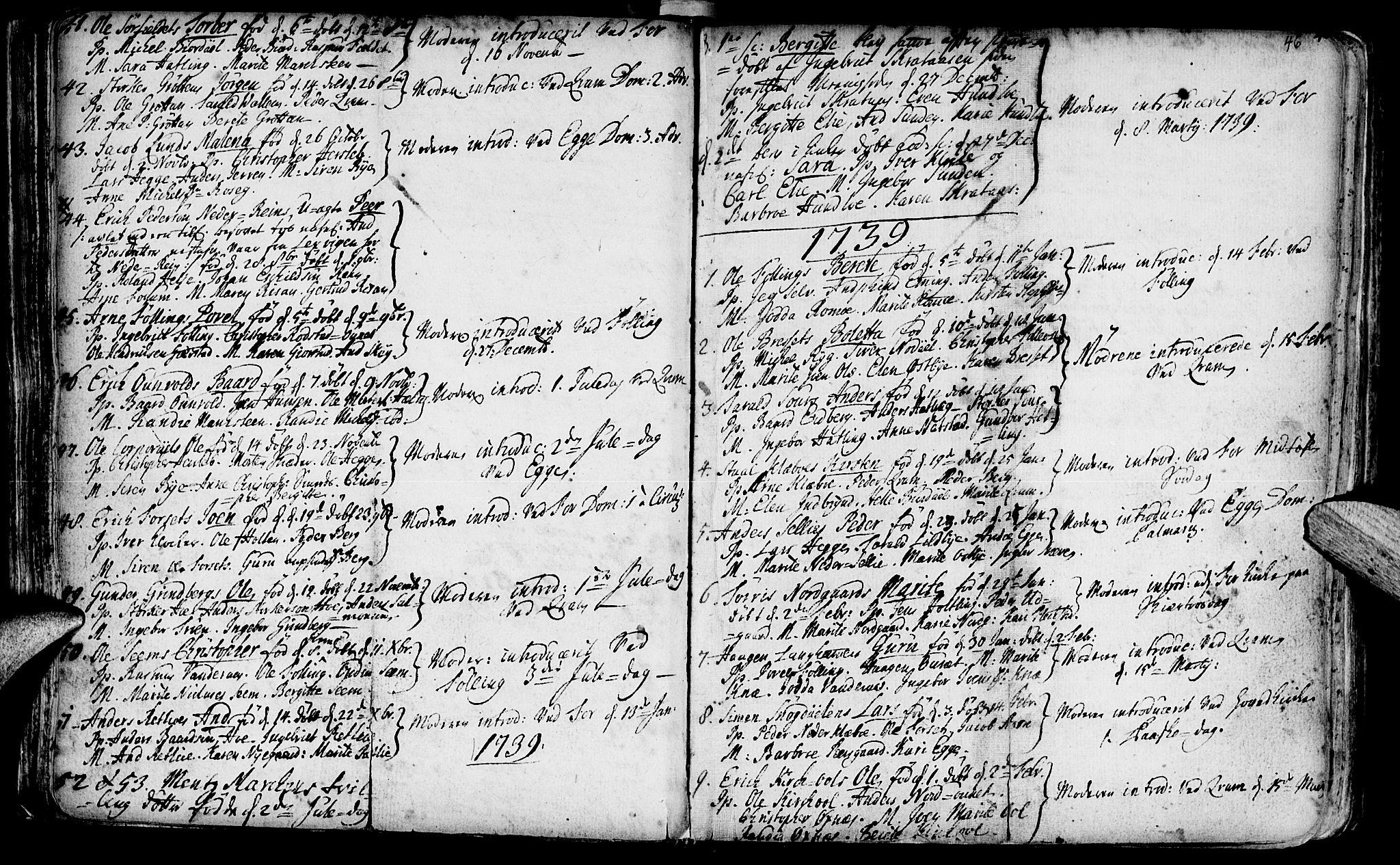 SAT, Ministerialprotokoller, klokkerbøker og fødselsregistre - Nord-Trøndelag, 746/L0439: Ministerialbok nr. 746A01, 1688-1759, s. 46