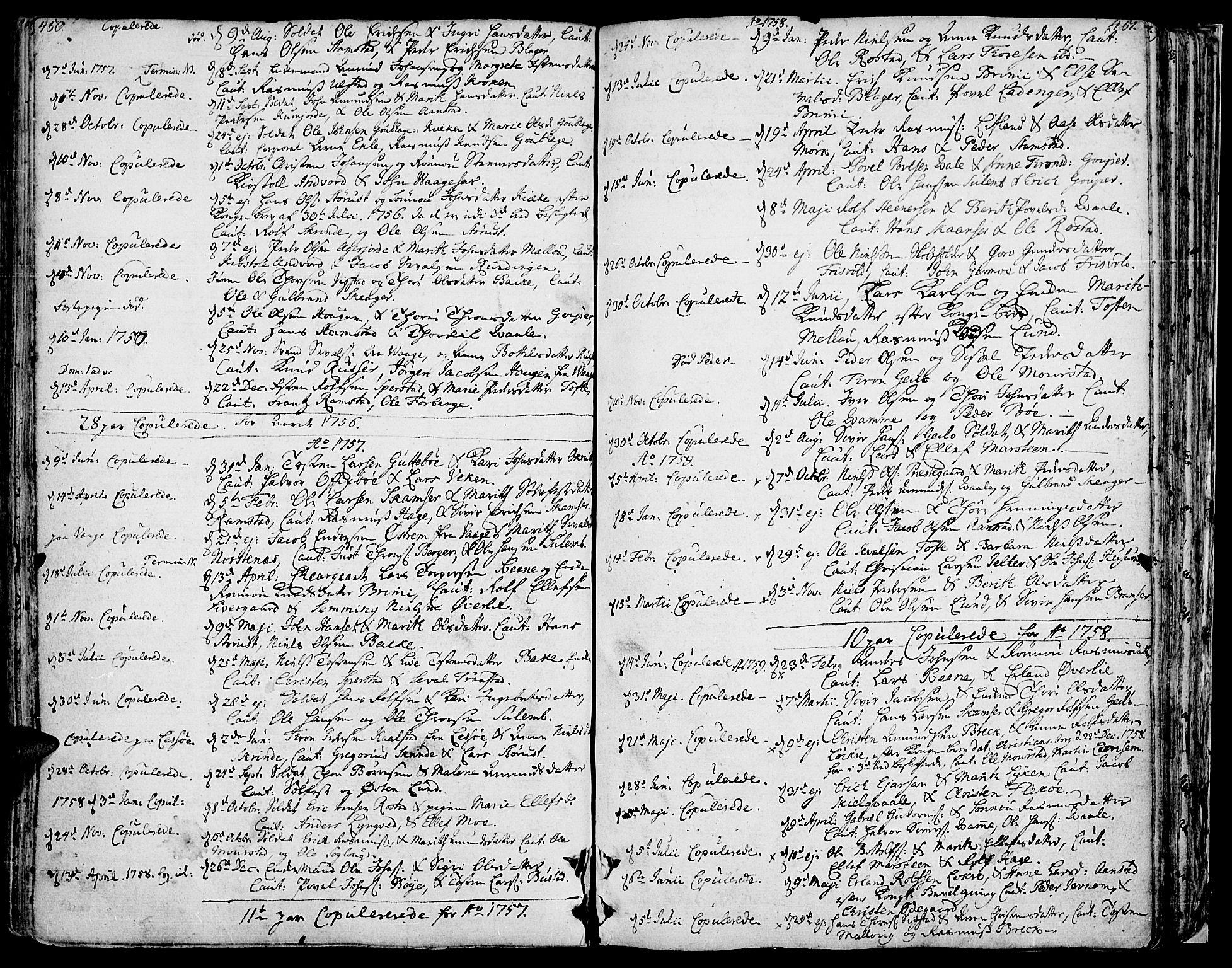 SAH, Lom prestekontor, K/L0002: Ministerialbok nr. 2, 1749-1801, s. 450-451