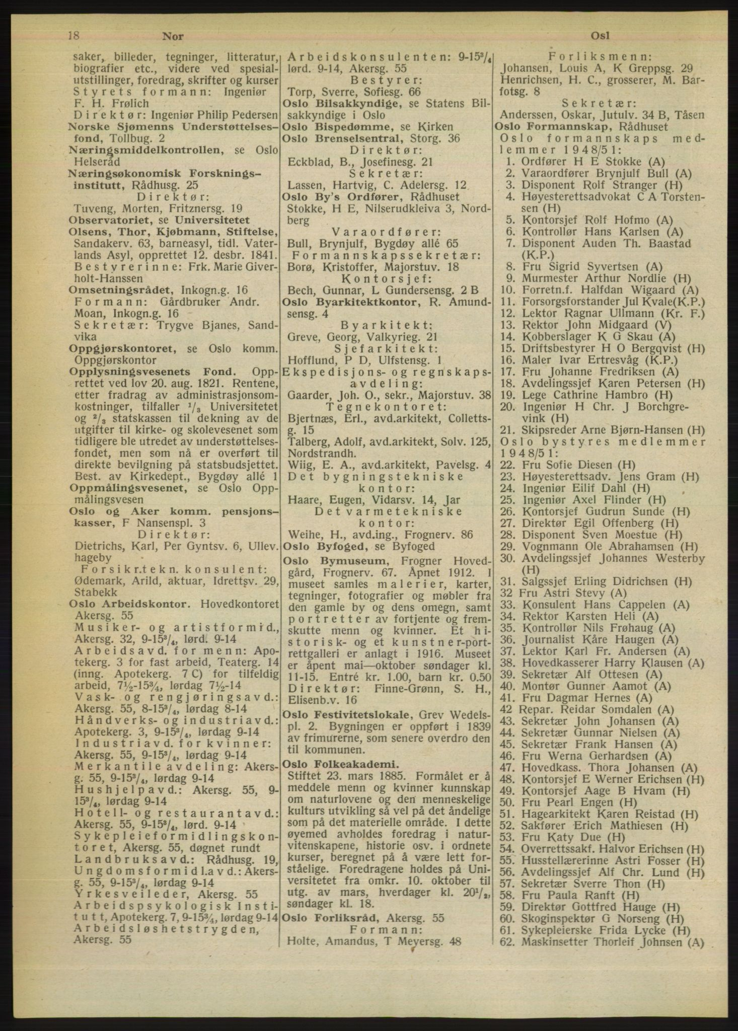 PUBL, Kristiania/Oslo adressebok, 1949, s. 18
