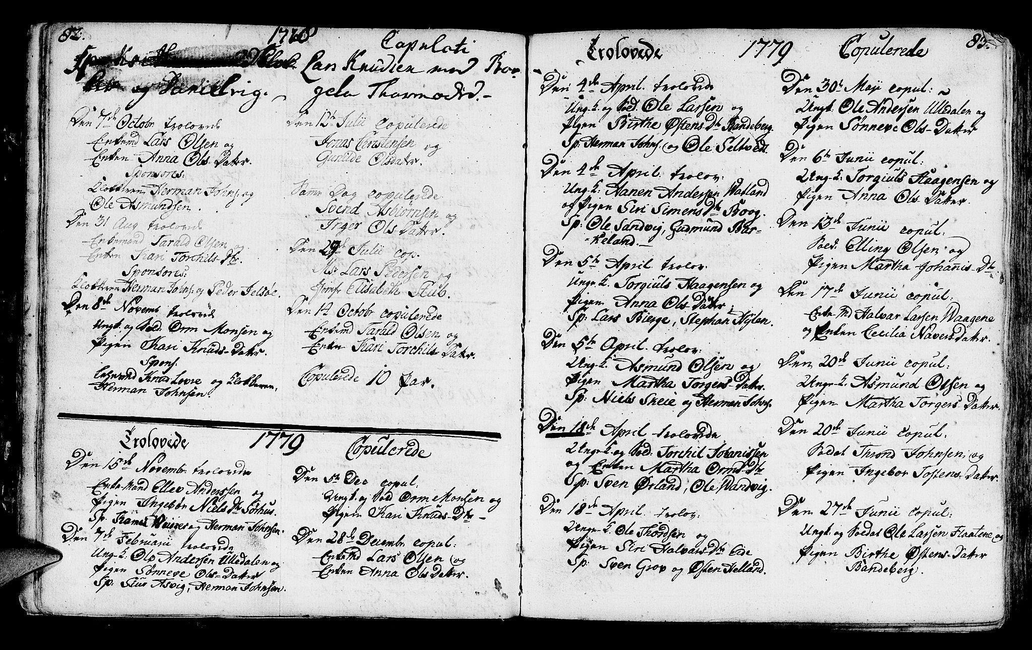 SAST, Jelsa sokneprestkontor, IV: Ministerialbok nr. A 3, 1768-1796, s. 82-83