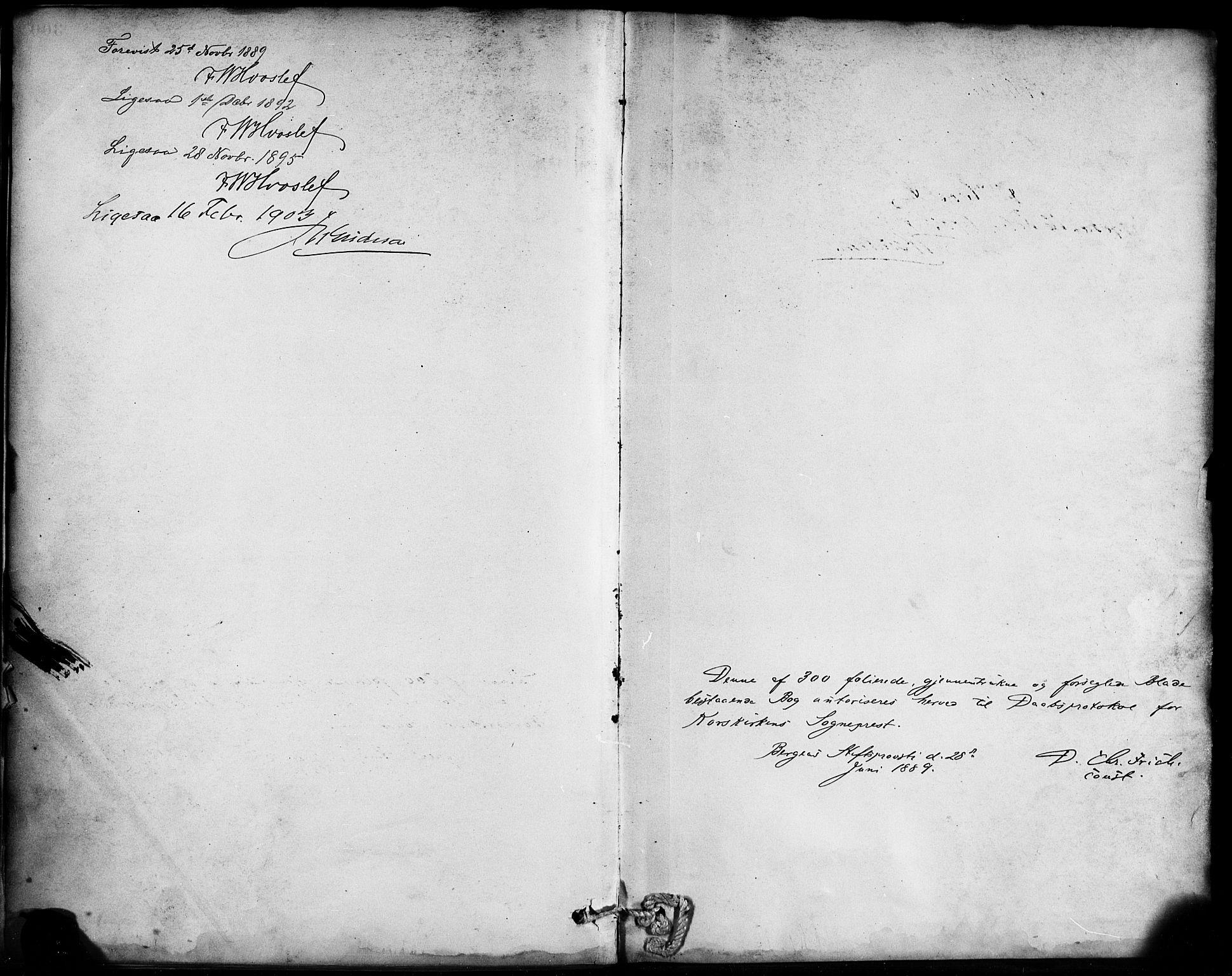 SAB, Korskirken Sokneprestembete, H/Haa/L0022: Ministerialbok nr. B 8, 1889-1899
