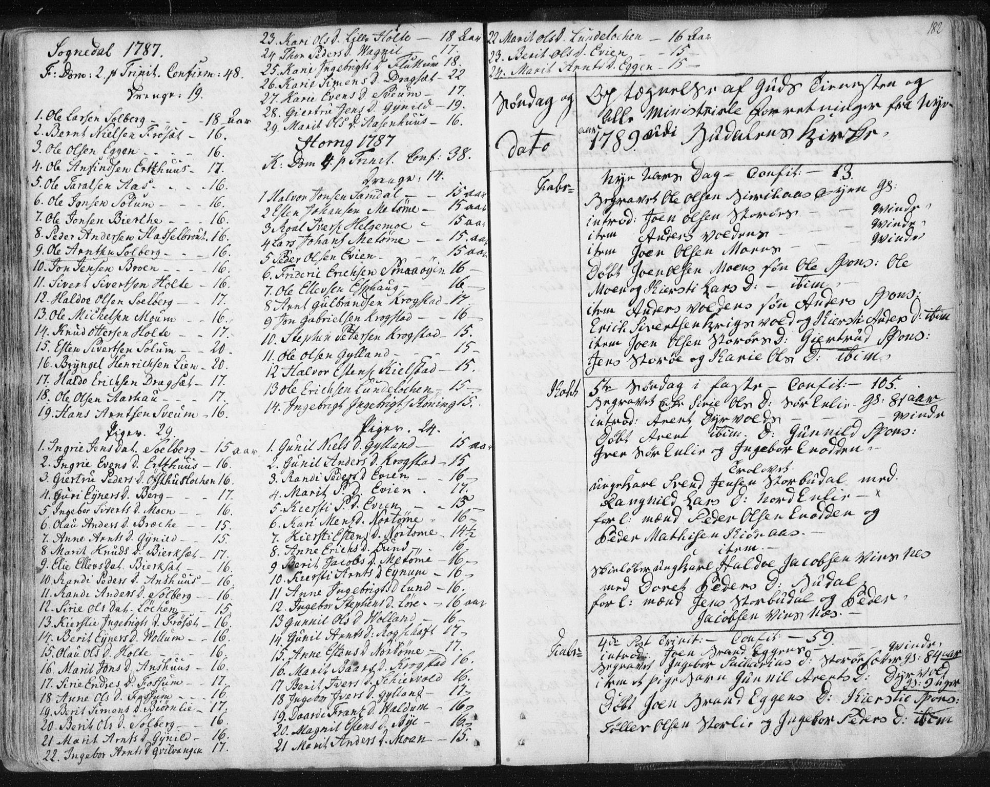 SAT, Ministerialprotokoller, klokkerbøker og fødselsregistre - Sør-Trøndelag, 687/L0991: Ministerialbok nr. 687A02, 1747-1790, s. 182