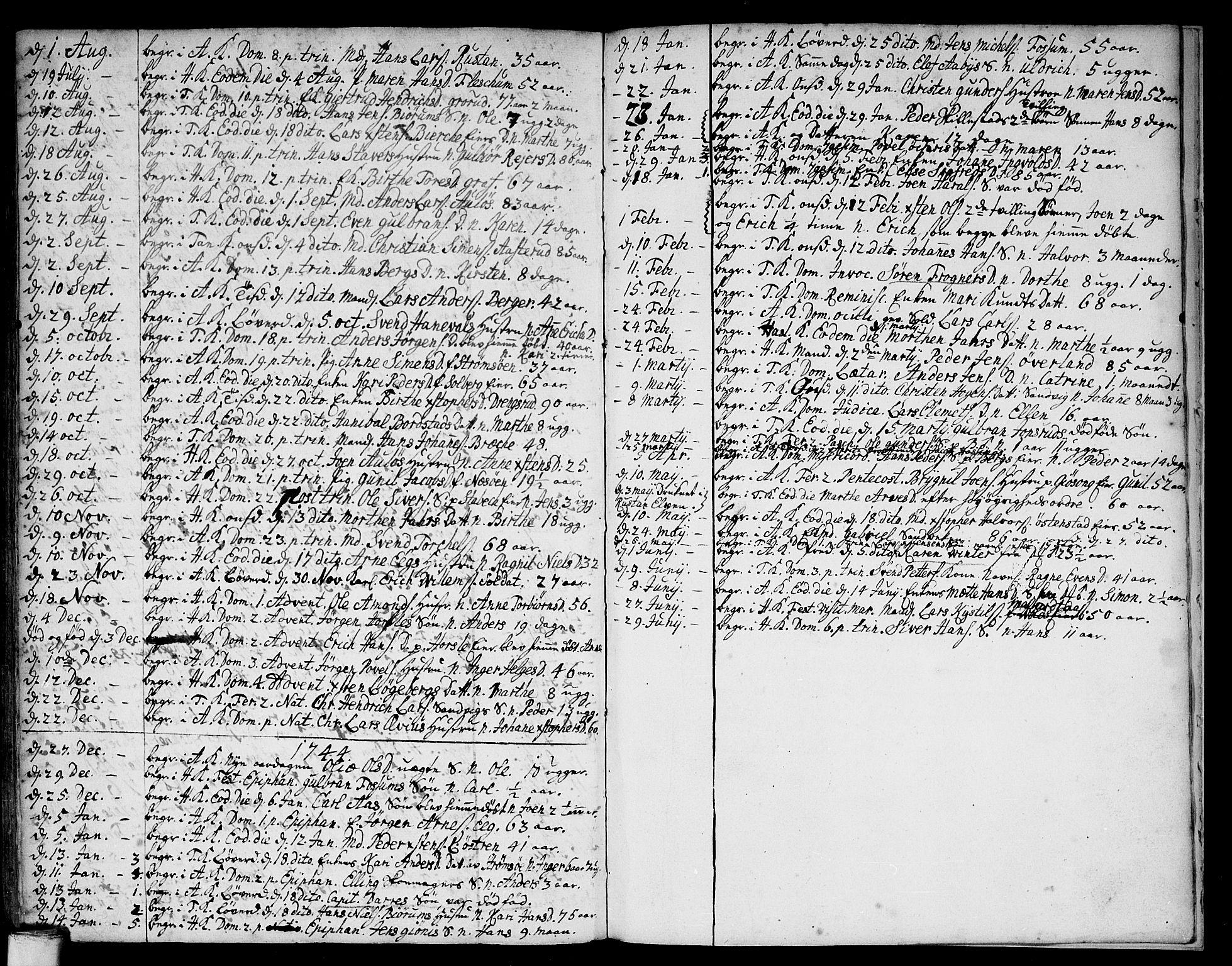 SAO, Asker prestekontor Kirkebøker, F/Fa/L0001: Ministerialbok nr. I 1, 1726-1744, s. 112
