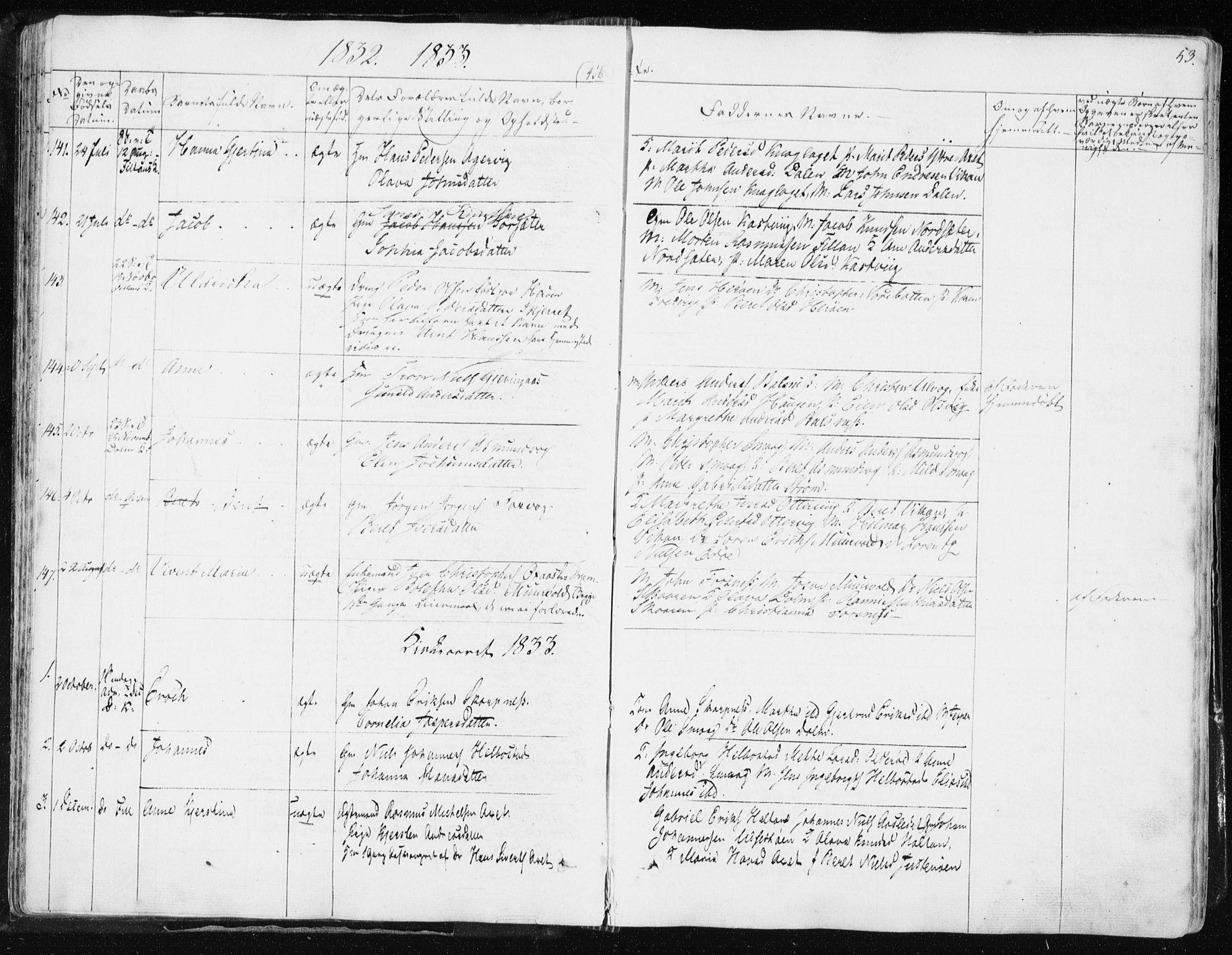SAT, Ministerialprotokoller, klokkerbøker og fødselsregistre - Sør-Trøndelag, 634/L0528: Ministerialbok nr. 634A04, 1827-1842, s. 53