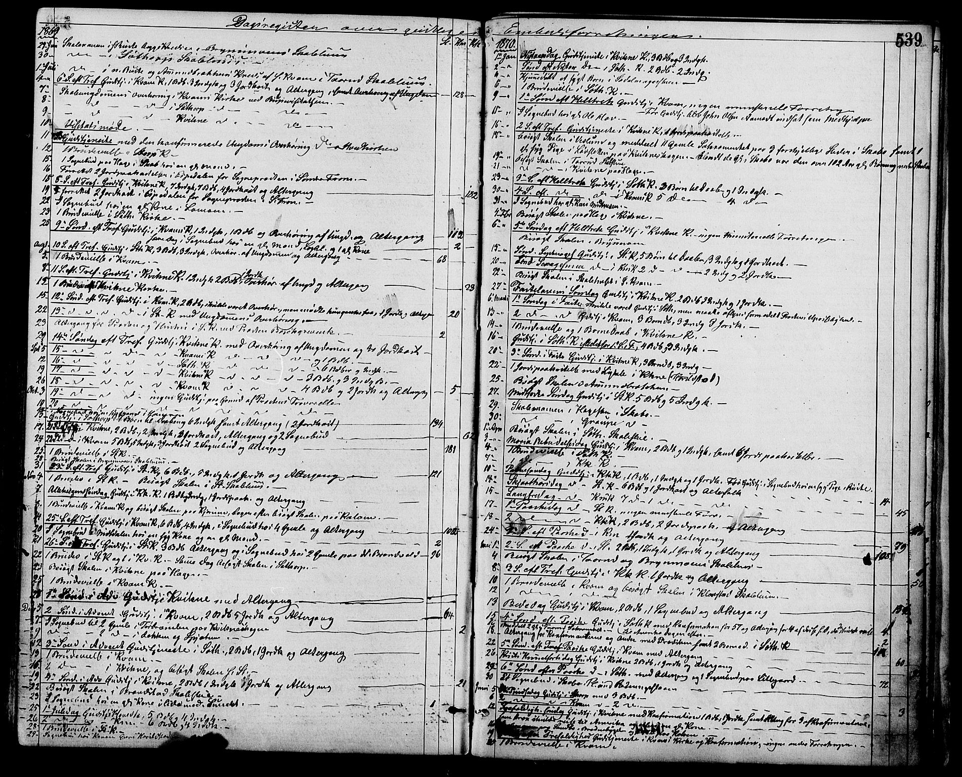SAH, Nord-Fron prestekontor, Ministerialbok nr. 2, 1865-1883, s. 539