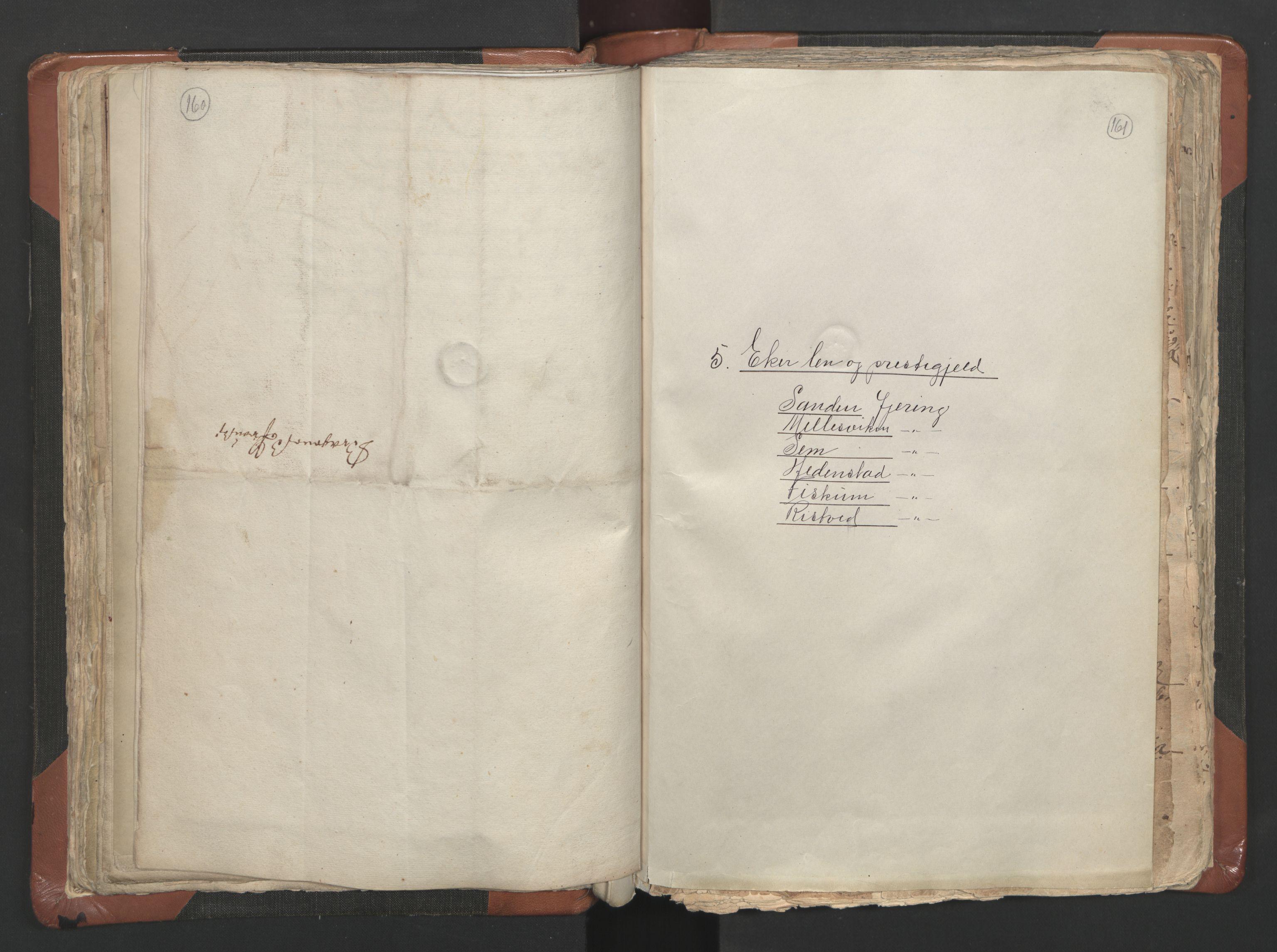 RA, Sogneprestenes manntall 1664-1666, nr. 9: Bragernes prosti, 1664-1666, s. 160-161