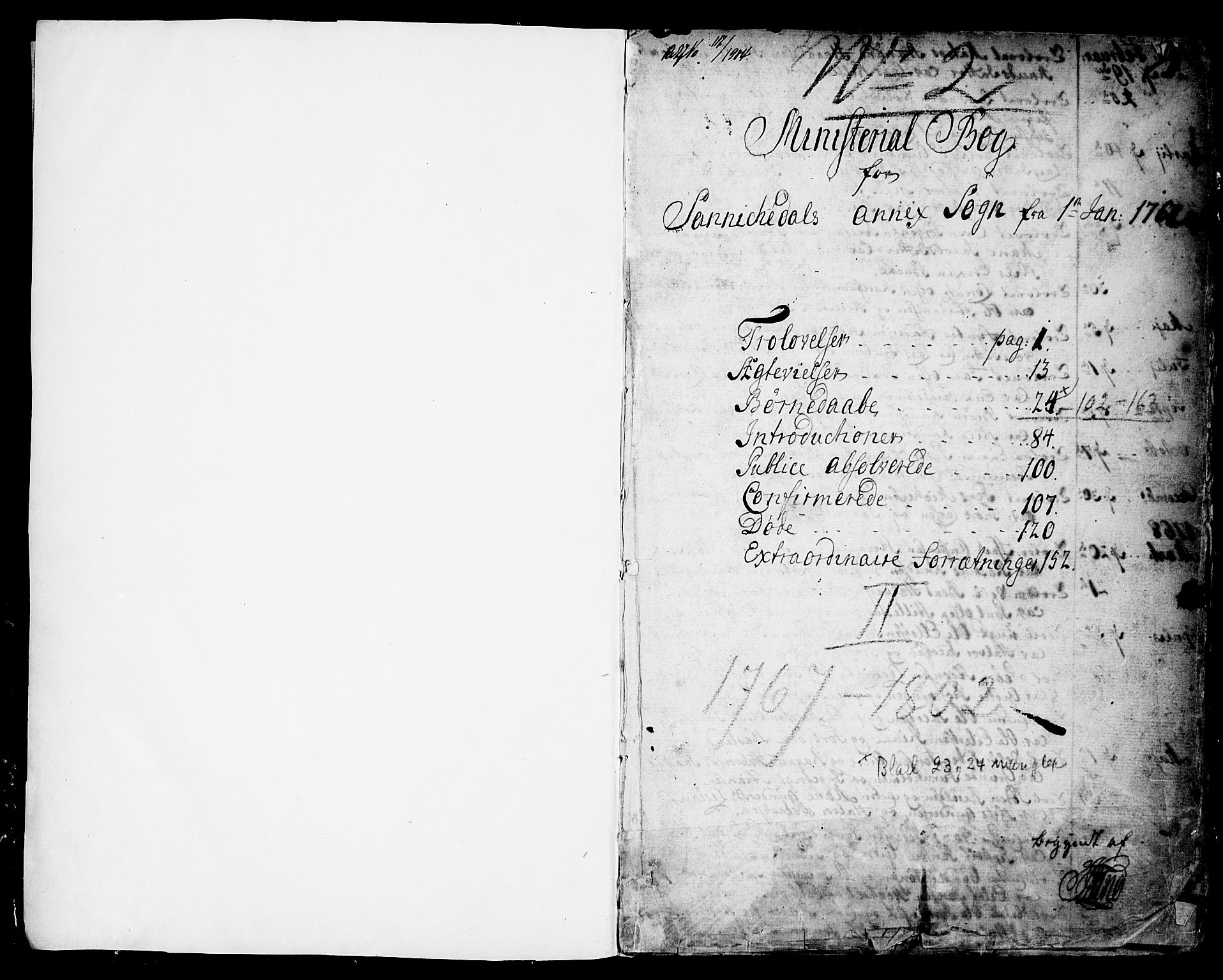 SAKO, Sannidal kirkebøker, F/Fa/L0002: Ministerialbok nr. 2, 1767-1802, s. 1