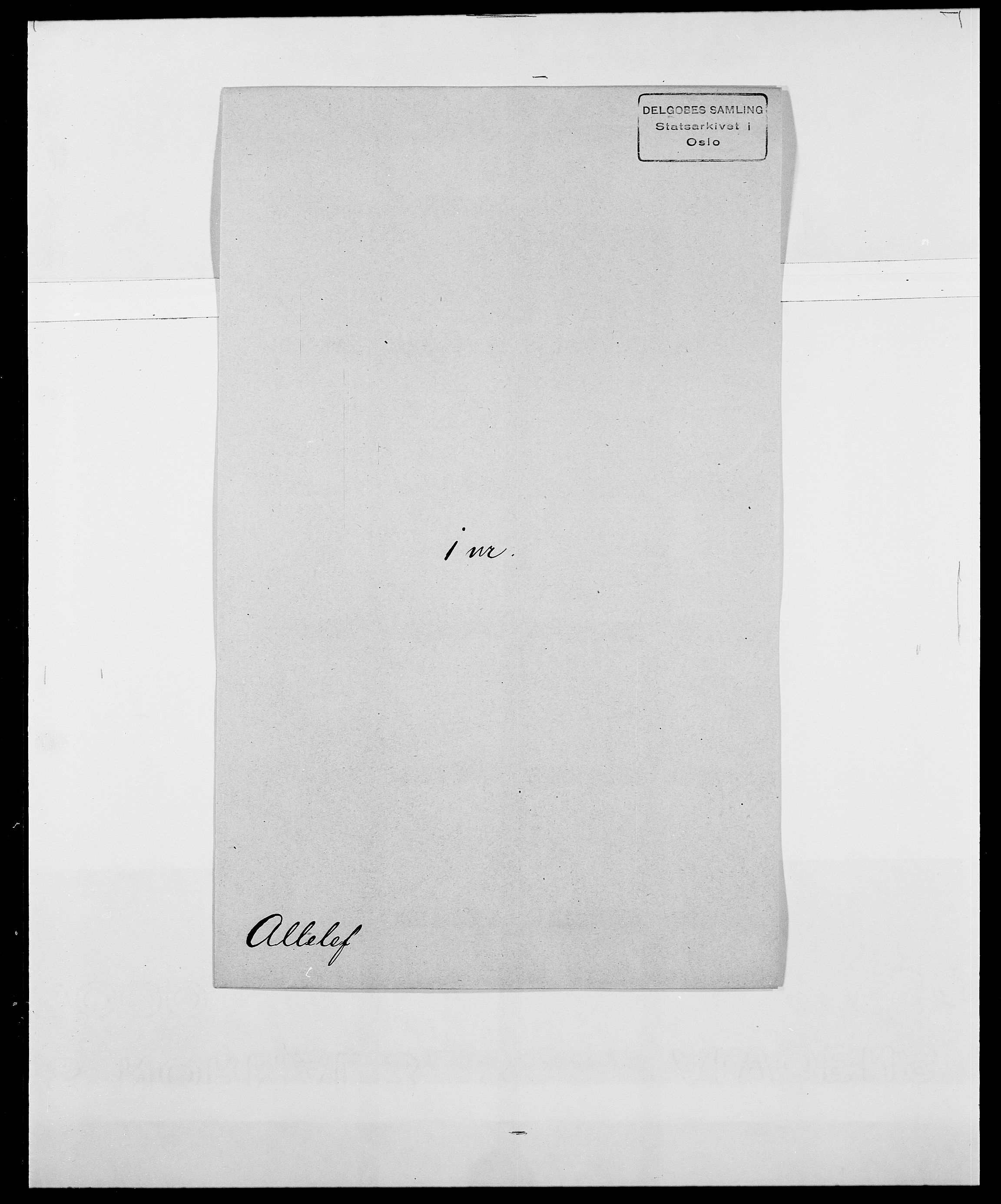 SAO, Delgobe, Charles Antoine - samling, D/Da/L0001: Aabye - Angerman, s. 414