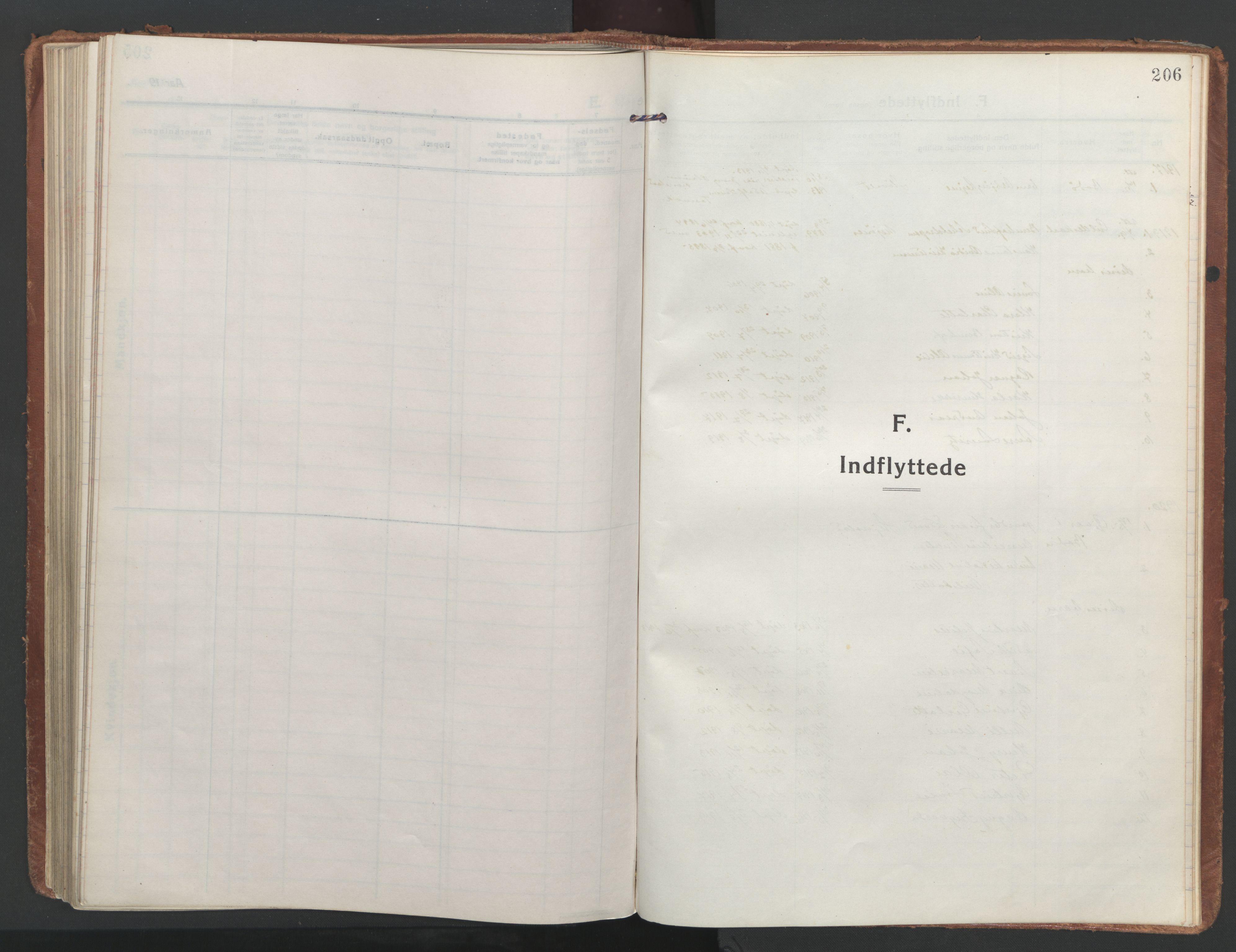 SAT, Ministerialprotokoller, klokkerbøker og fødselsregistre - Nordland, 852/L0748: Ministerialbok nr. 852A18, 1913-1932, s. 206