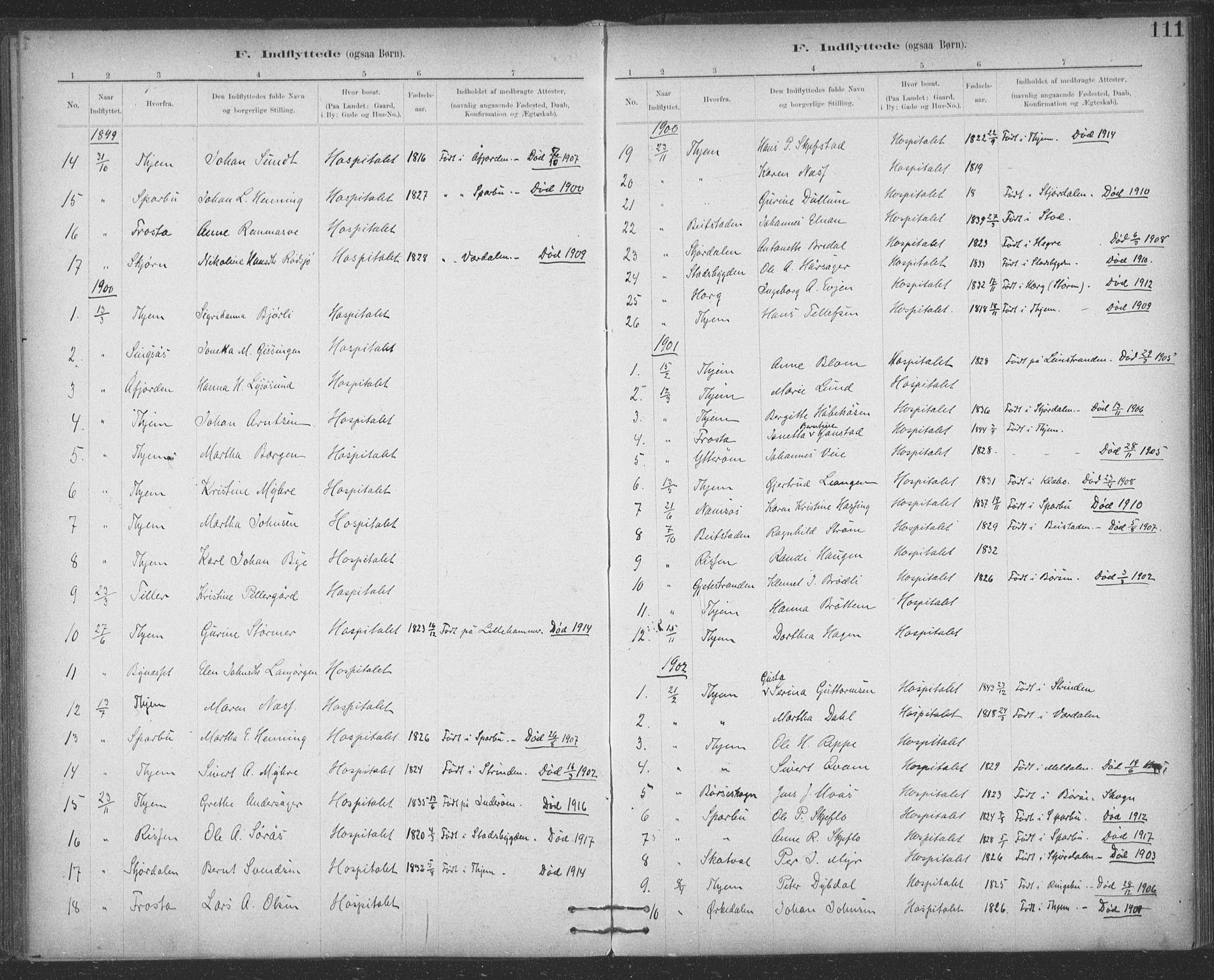 SAT, Ministerialprotokoller, klokkerbøker og fødselsregistre - Sør-Trøndelag, 623/L0470: Ministerialbok nr. 623A04, 1884-1938, s. 111