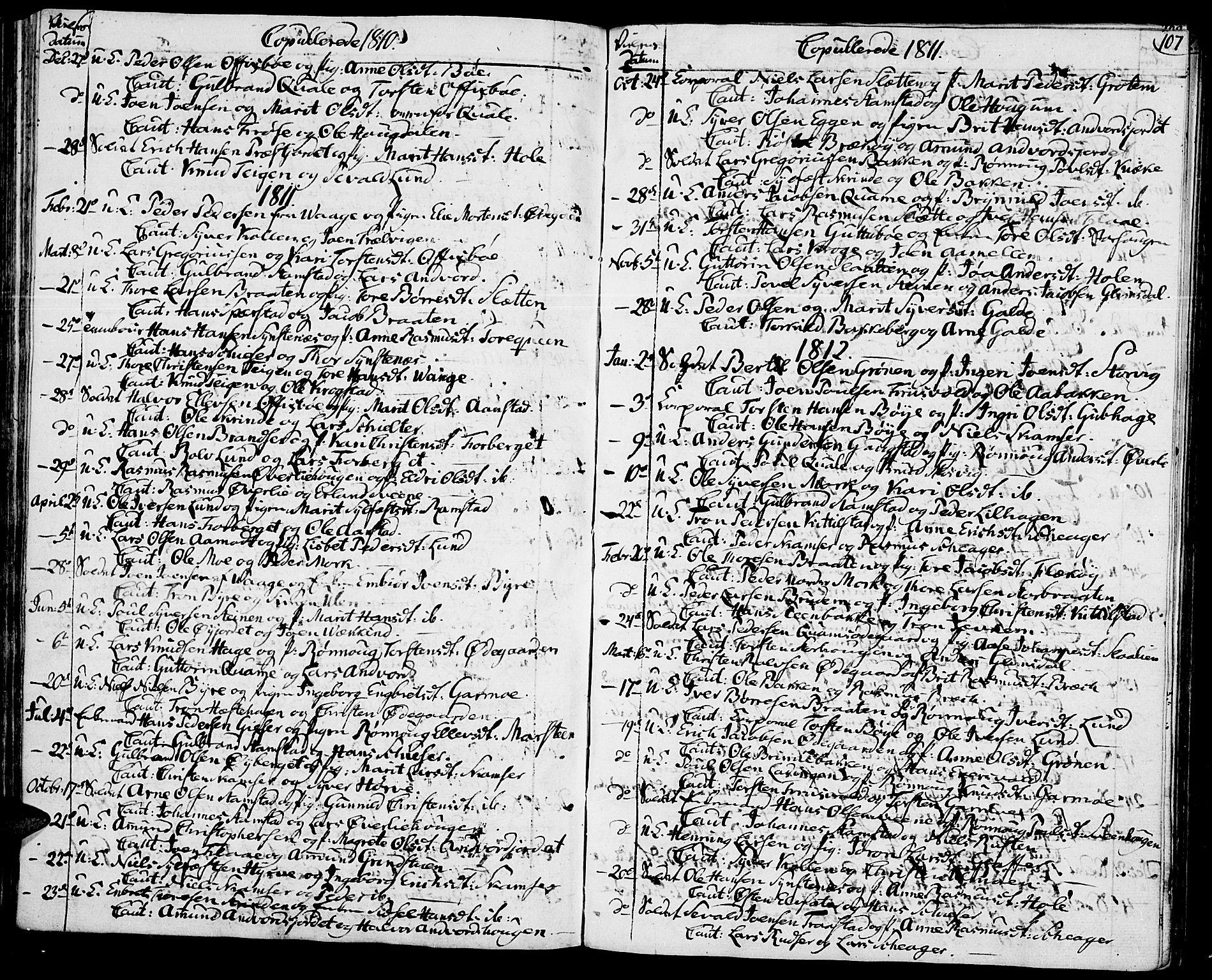 SAH, Lom prestekontor, K/L0003: Ministerialbok nr. 3, 1801-1825, s. 107