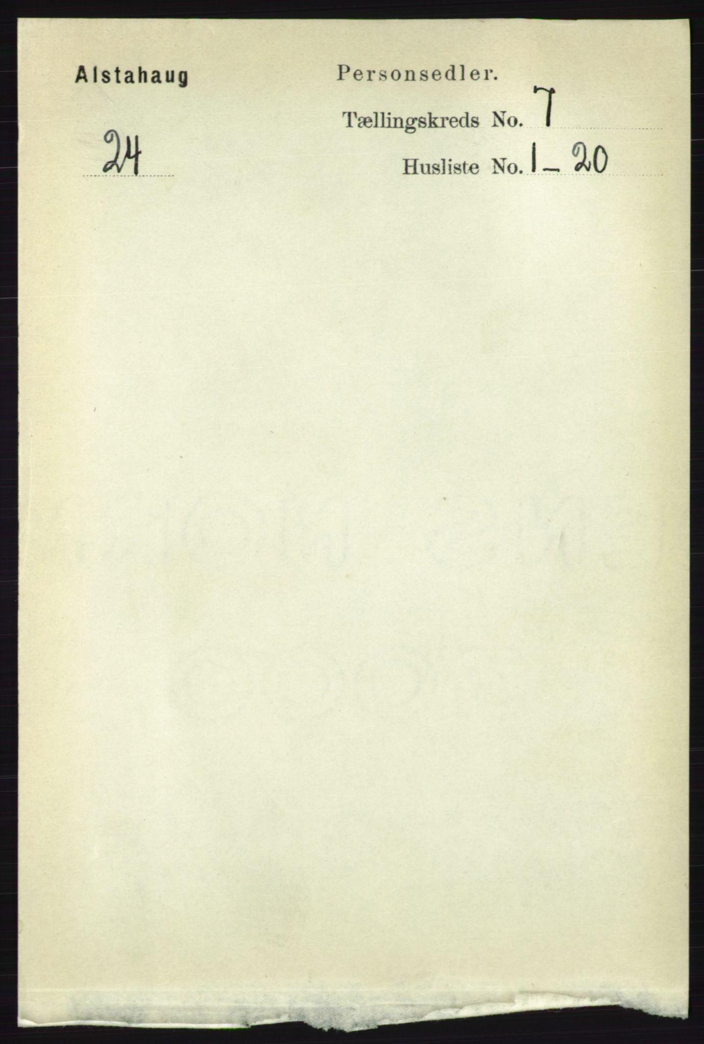 RA, Folketelling 1891 for 1820 Alstahaug herred, 1891, s. 2477