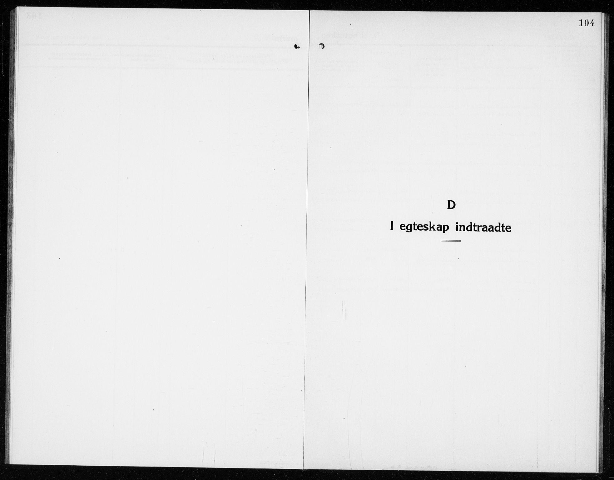 SAKO, Hole kirkebøker, G/Ga/L0005: Klokkerbok nr. I 5, 1924-1938, s. 104