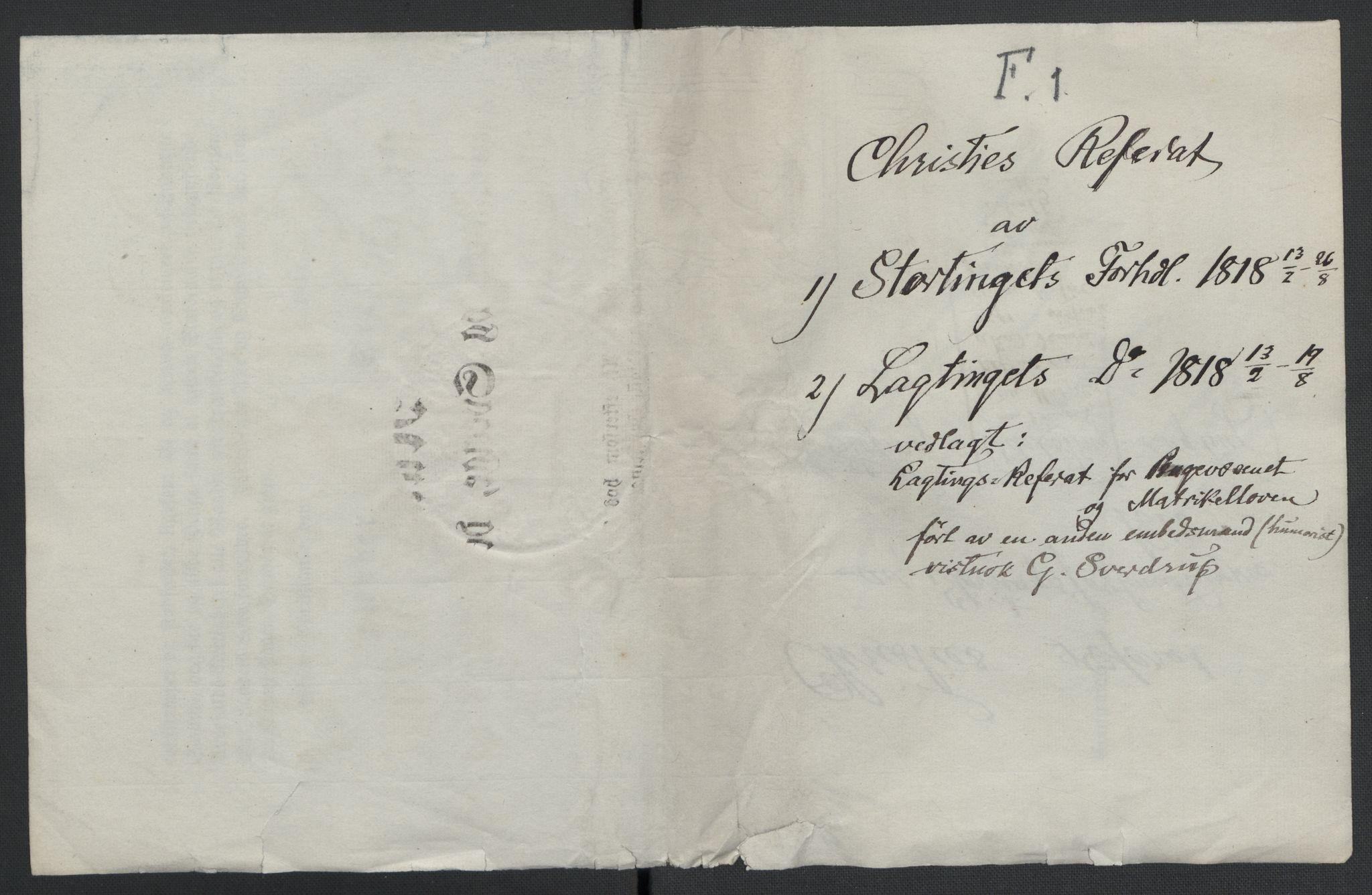 RA, Christie, Wilhelm Frimann Koren, F/L0006, 1817-1818, s. 56
