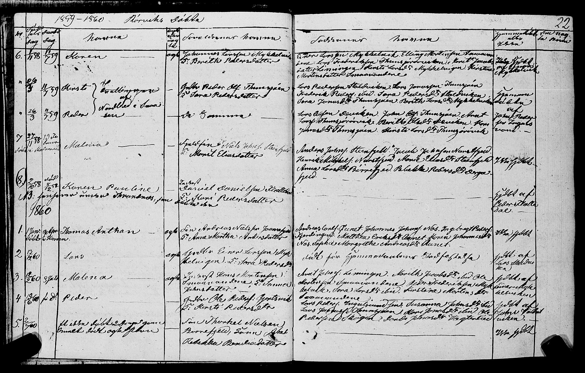 SAT, Ministerialprotokoller, klokkerbøker og fødselsregistre - Nord-Trøndelag, 762/L0538: Ministerialbok nr. 762A02 /1, 1833-1879, s. 22