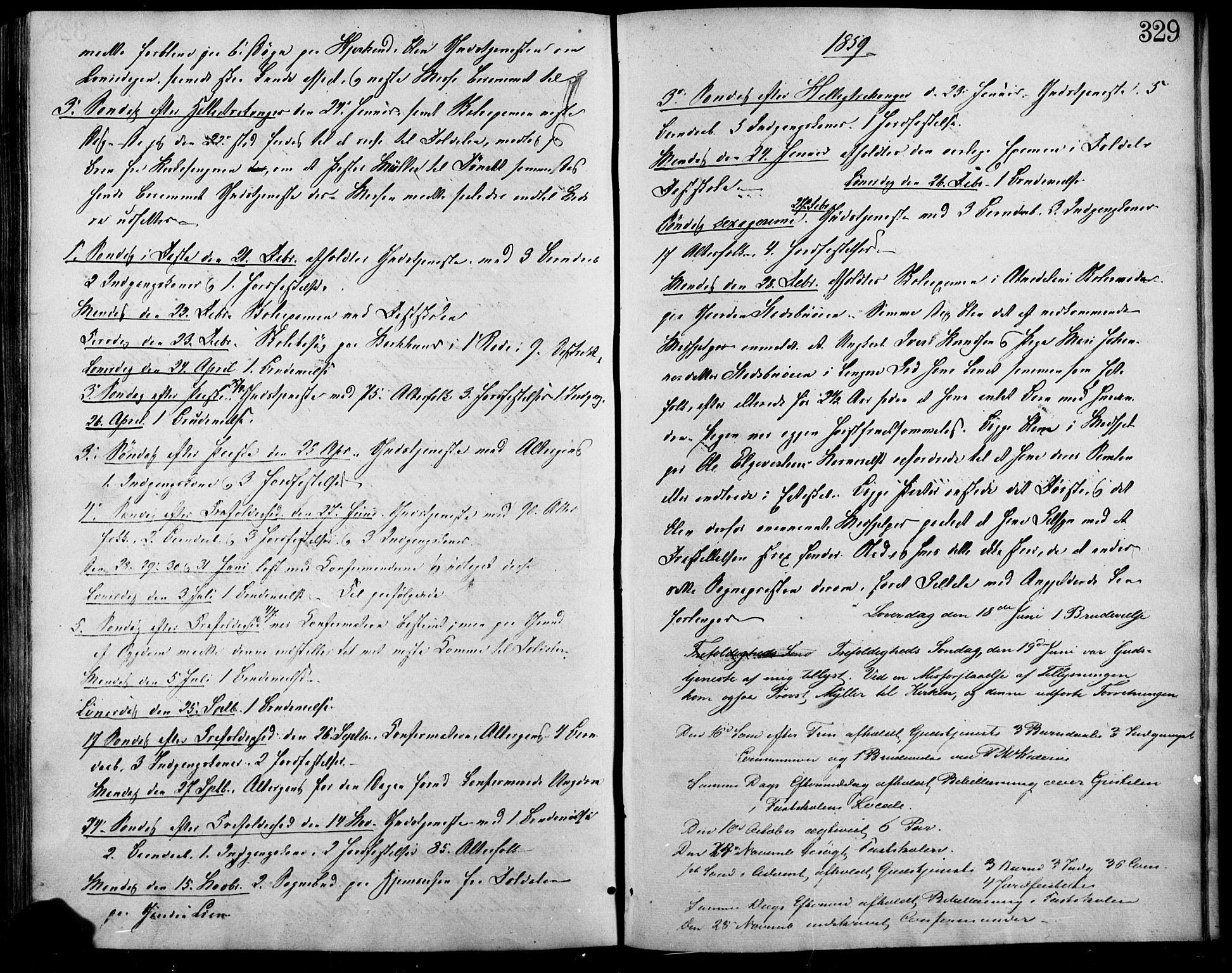 SAH, Lesja prestekontor, Ministerialbok nr. 7, 1854-1862, s. 329