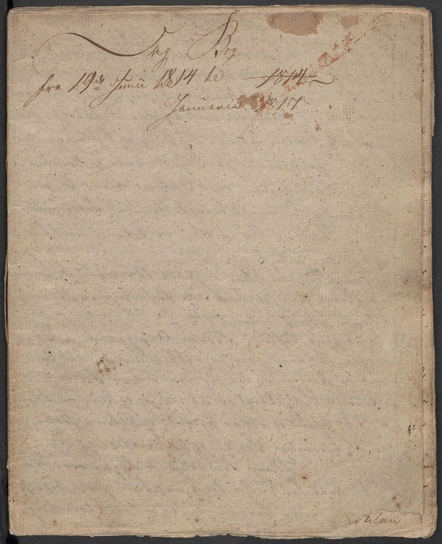 RA, Holck, Meidell, Hartvig, F/L0001: (Kassett) Dagbøker ført av Ole Elias v.Holck, 1798-1842, s. 374