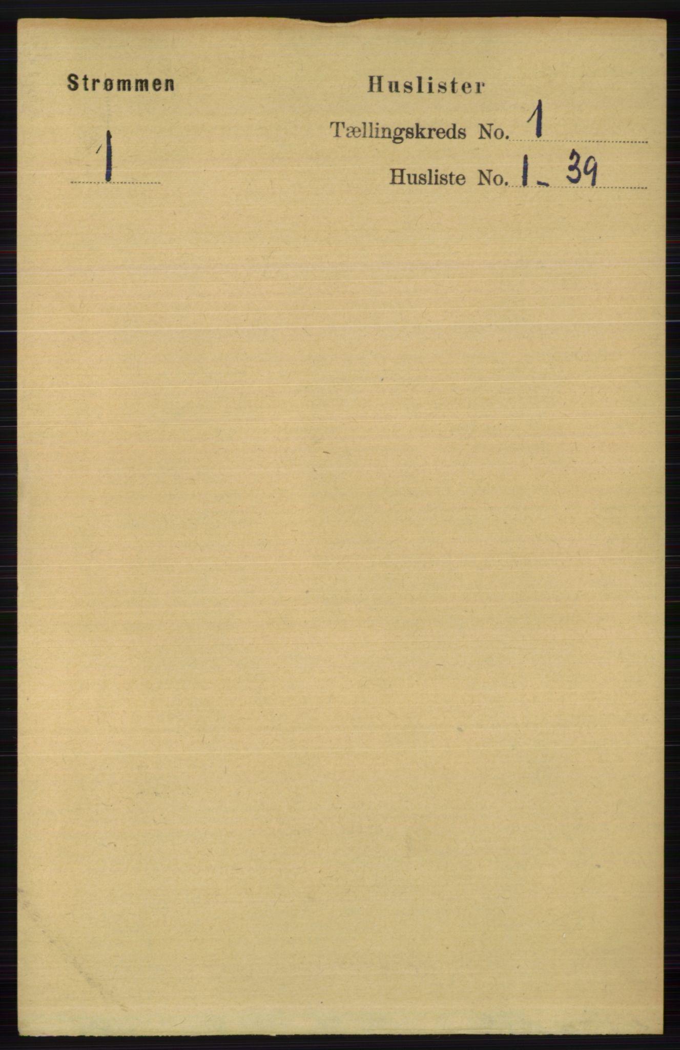 RA, Folketelling 1891 for 0711 Strømm herred, 1891, s. 14