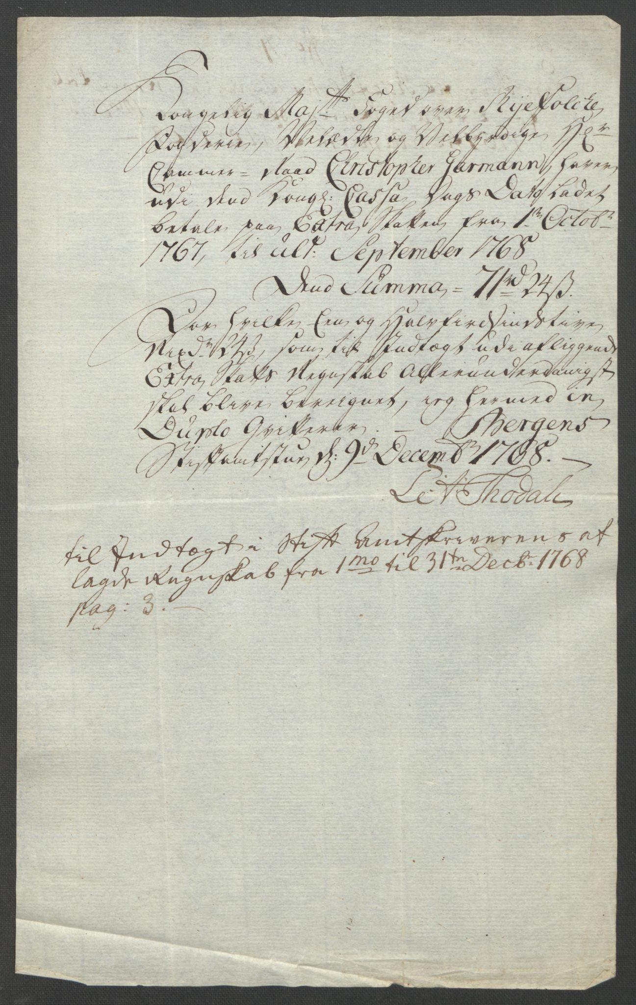 RA, Rentekammeret inntil 1814, Reviderte regnskaper, Fogderegnskap, R47/L2972: Ekstraskatten Ryfylke, 1762-1780, s. 107