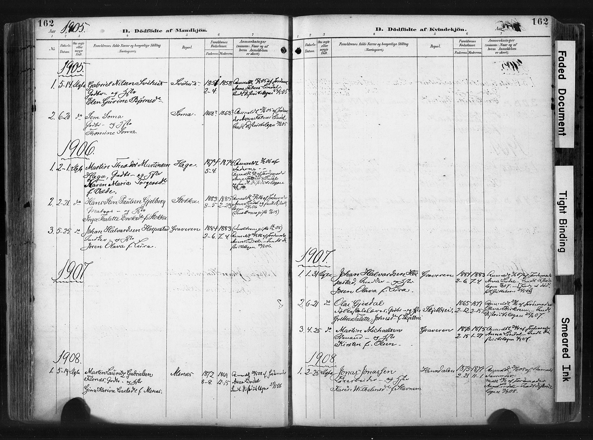 SAST, Høyland sokneprestkontor, 30BA/L0015: Ministerialbok nr. A 14, 1899-1911, s. 162