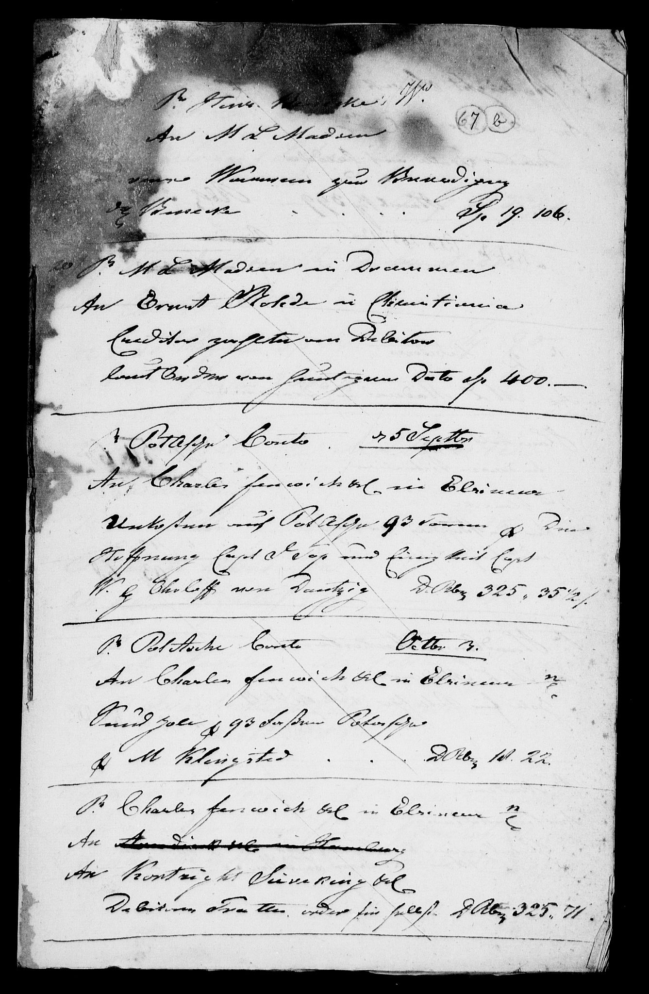RA, Modums Blaafarveværk, G/Gd/Gda/L0182, 1822-1830, s. 2