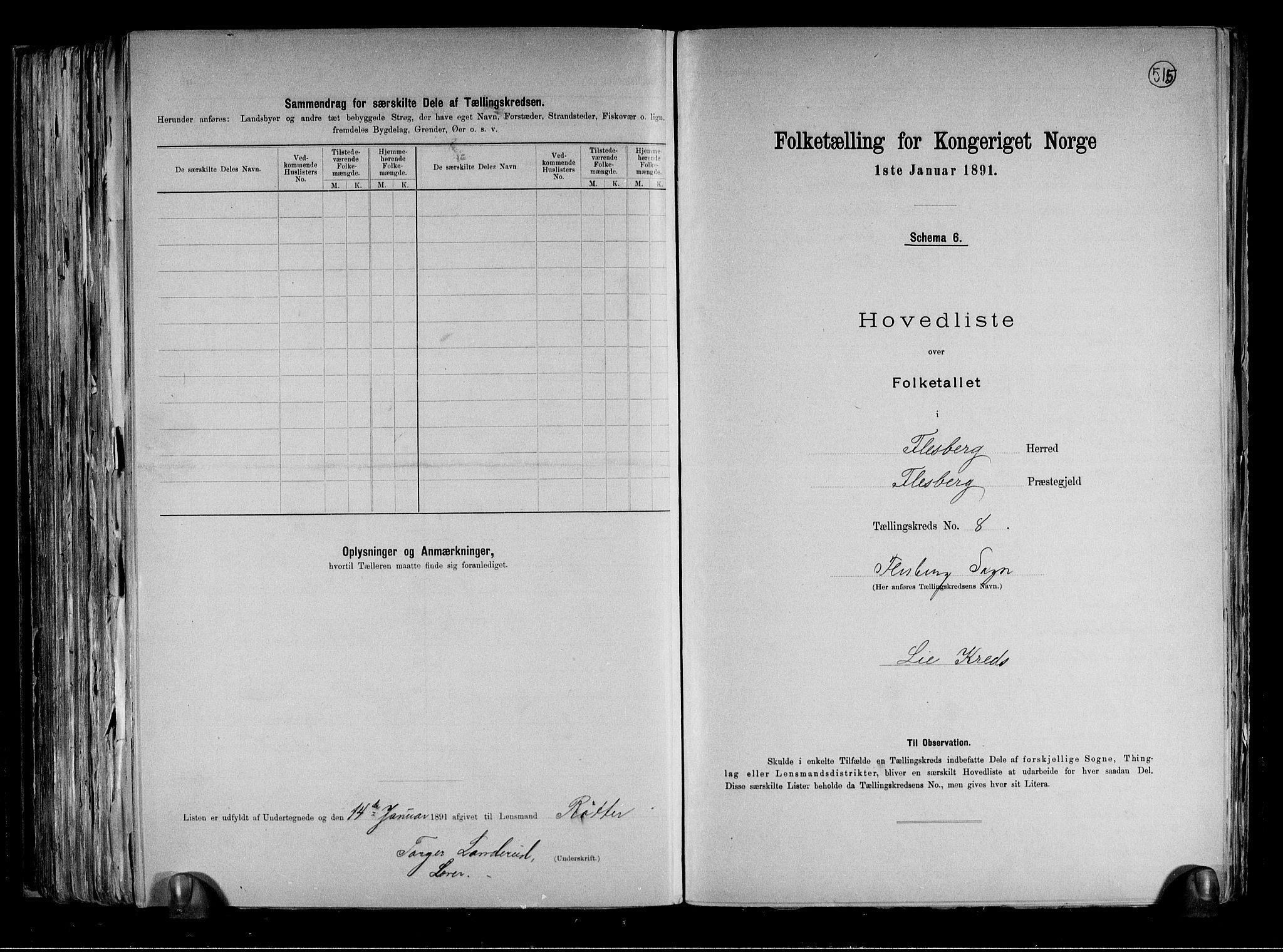 RA, Folketelling 1891 for 0631 Flesberg herred, 1891, s. 20