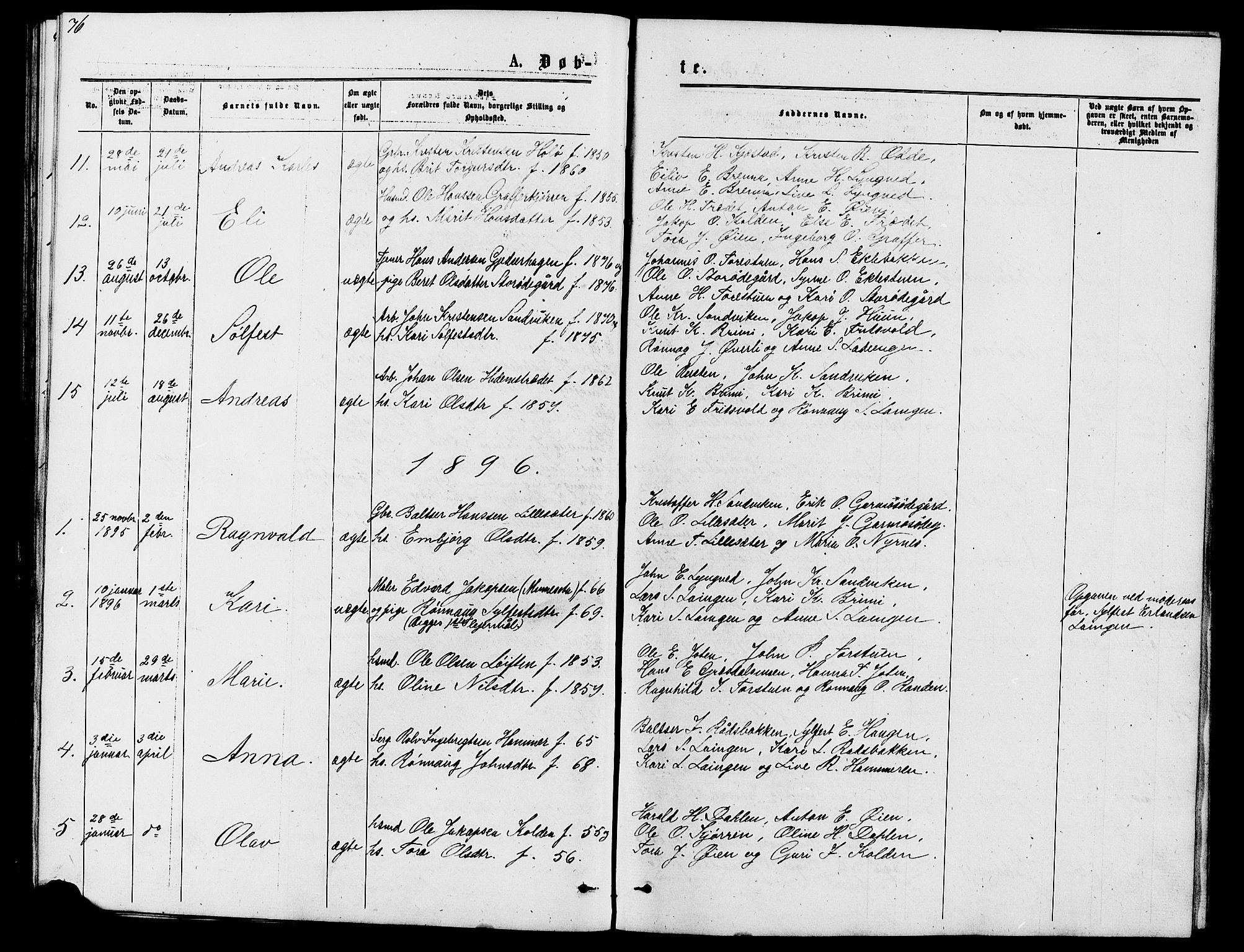 SAH, Lom prestekontor, L/L0005: Klokkerbok nr. 5, 1876-1901, s. 76-77