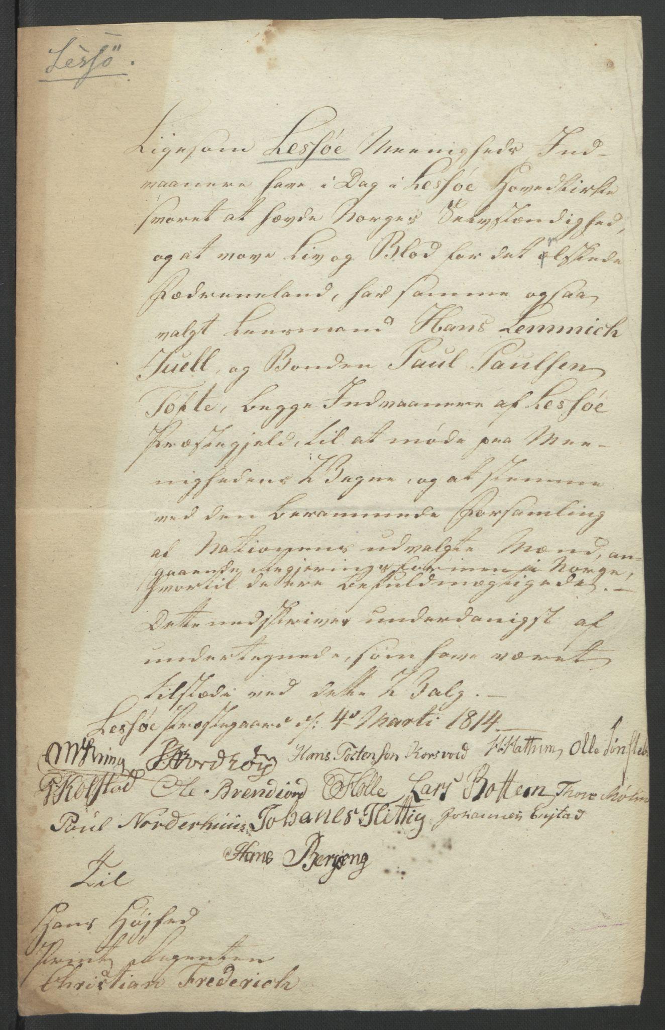 RA, Statsrådssekretariatet, D/Db/L0007: Fullmakter for Eidsvollsrepresentantene i 1814. , 1814, s. 271