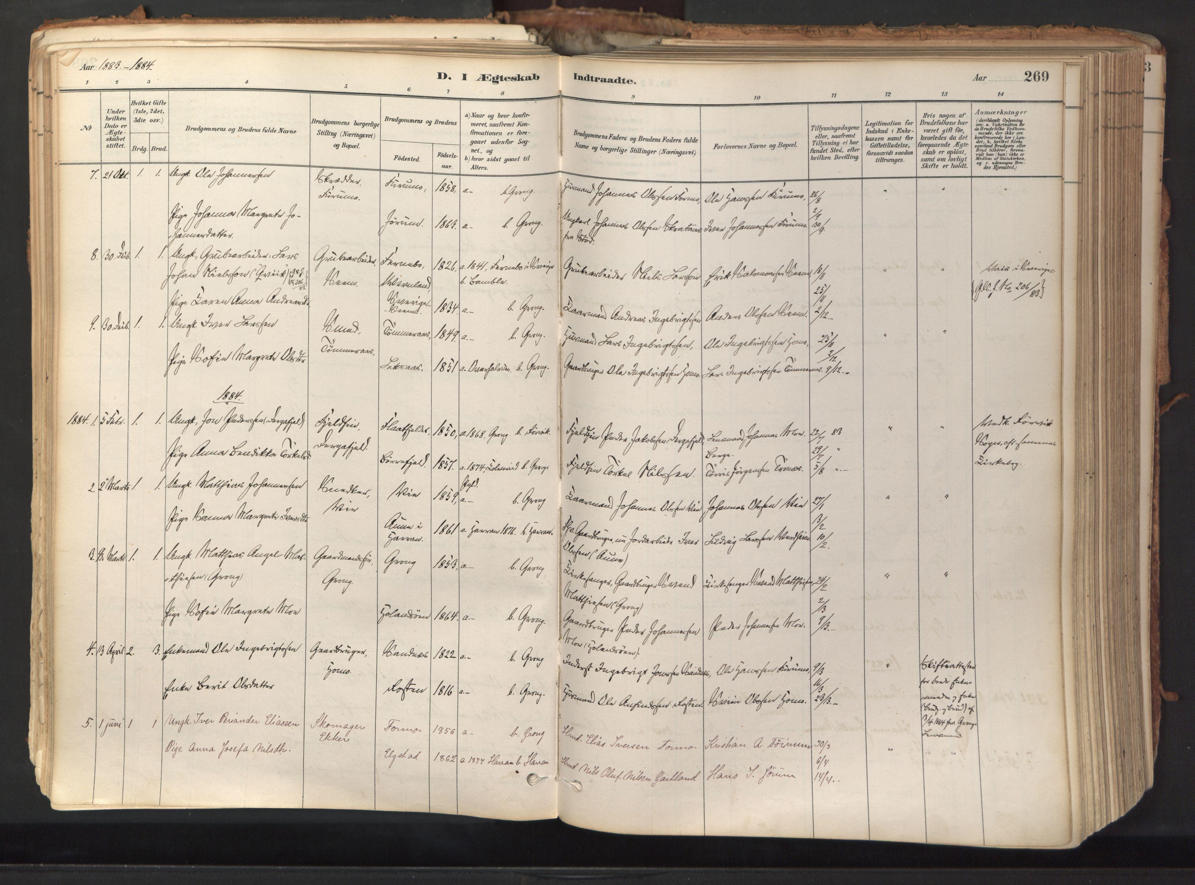 SAT, Ministerialprotokoller, klokkerbøker og fødselsregistre - Nord-Trøndelag, 758/L0519: Ministerialbok nr. 758A04, 1880-1926, s. 269