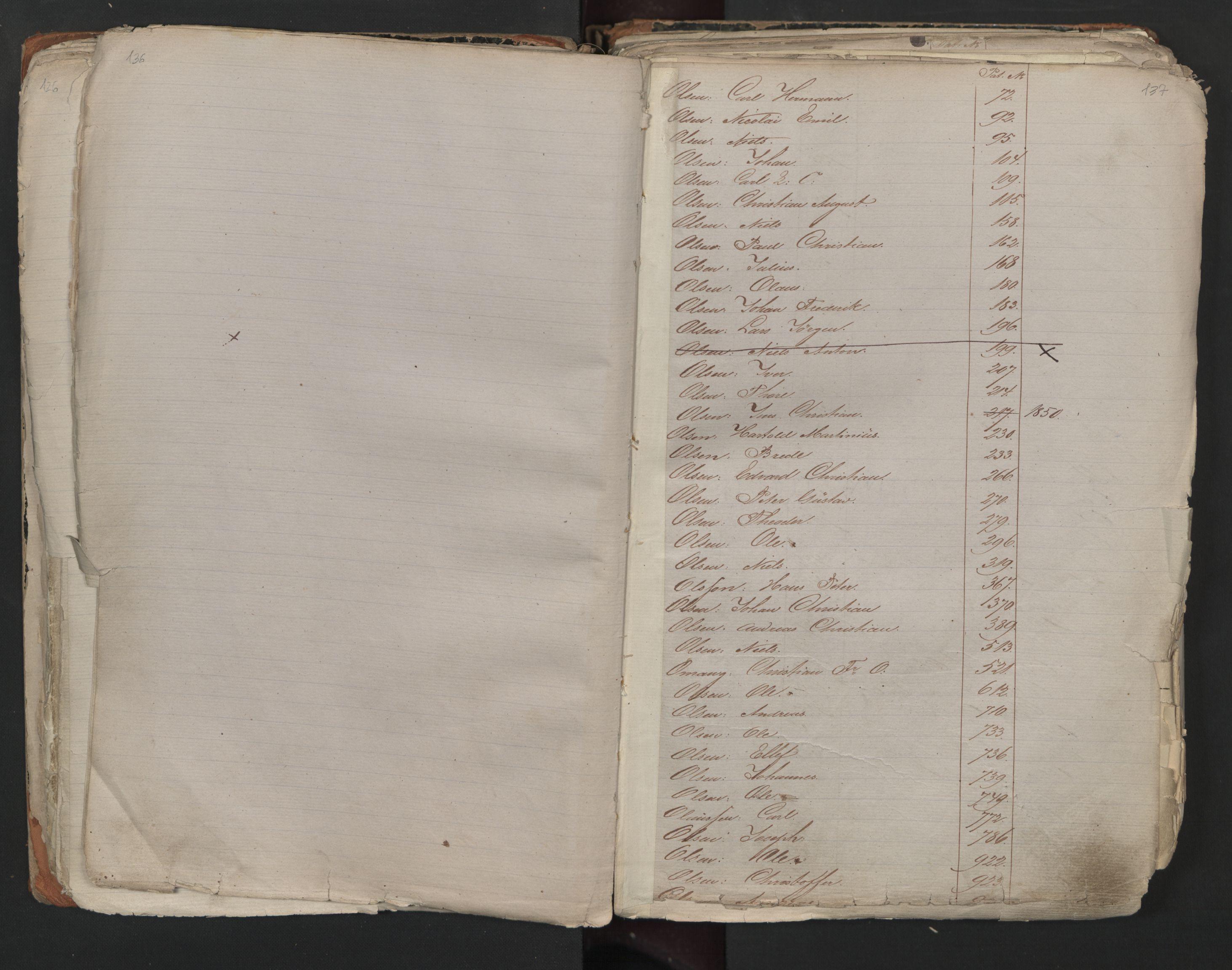 SAO, Oslo sjømannskontor, F/Fa/L0001: Register for Kristiania krets, 1866-1891, s. 136-137