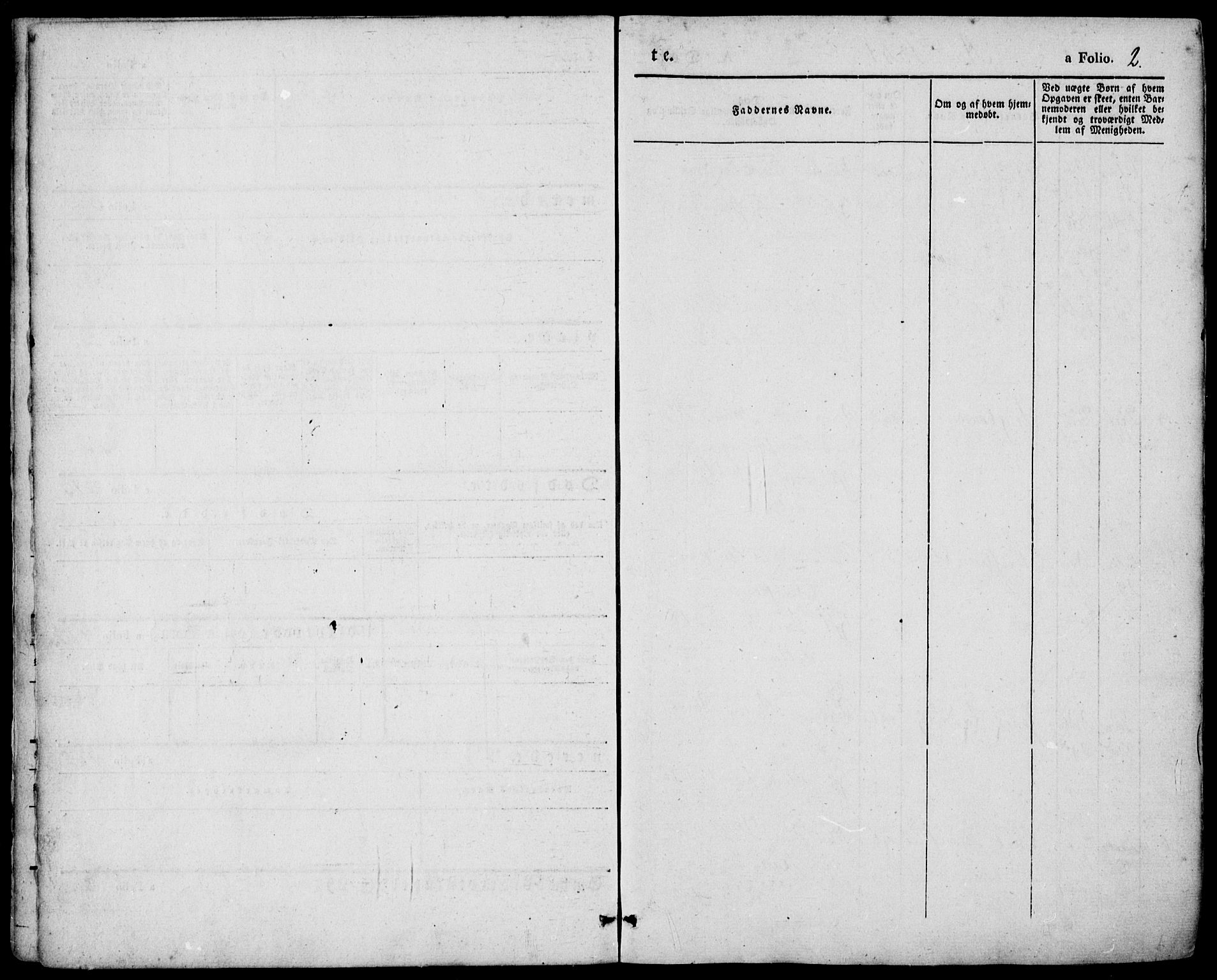 SAKO, Porsgrunn kirkebøker , F/Fa/L0006: Ministerialbok nr. 6, 1841-1857, s. 2