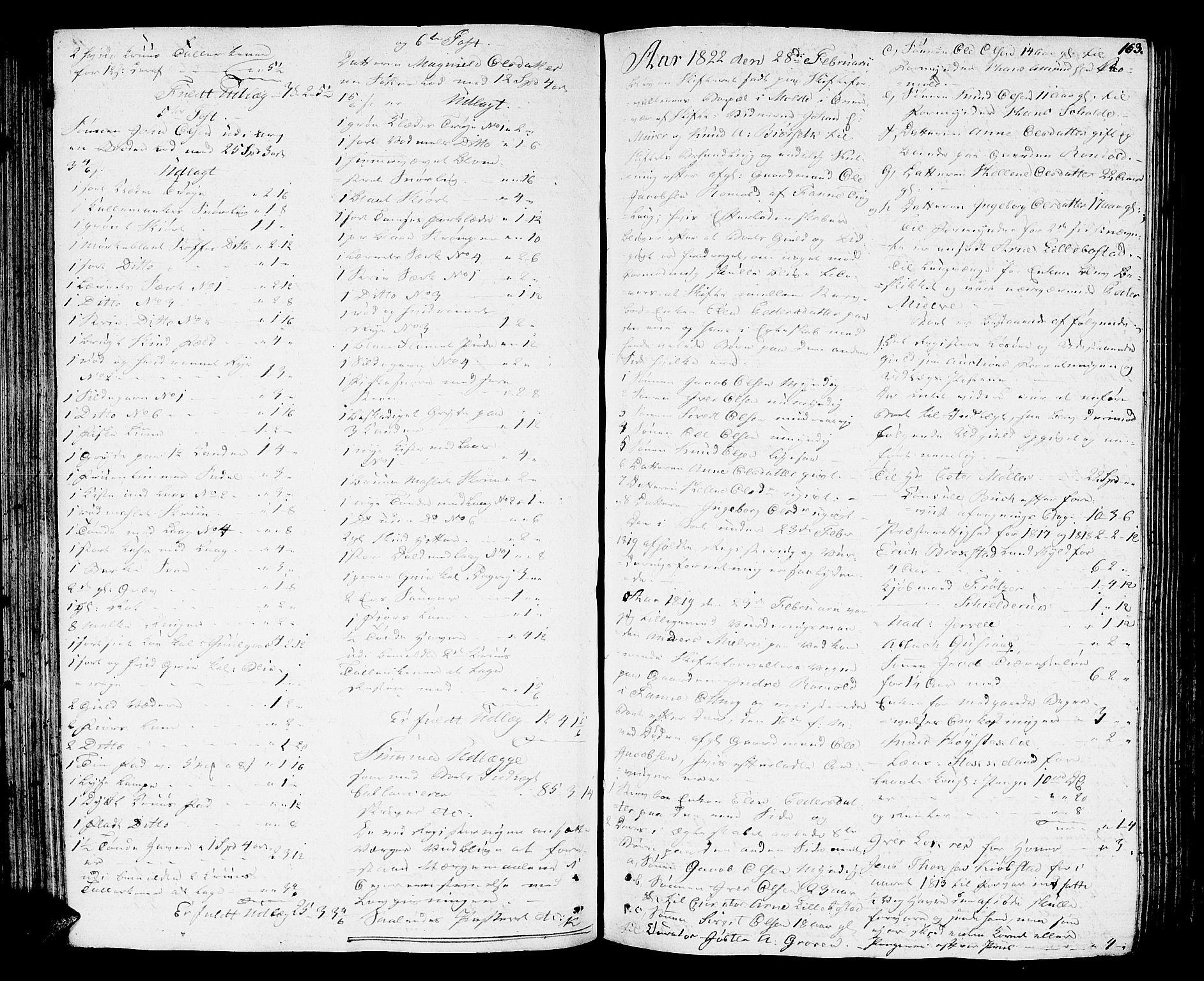 SAT, Romsdal sorenskriveri, 3/3A/L0015: Skifteutlodnings Protokoll 1, 1821-1823, s. 163