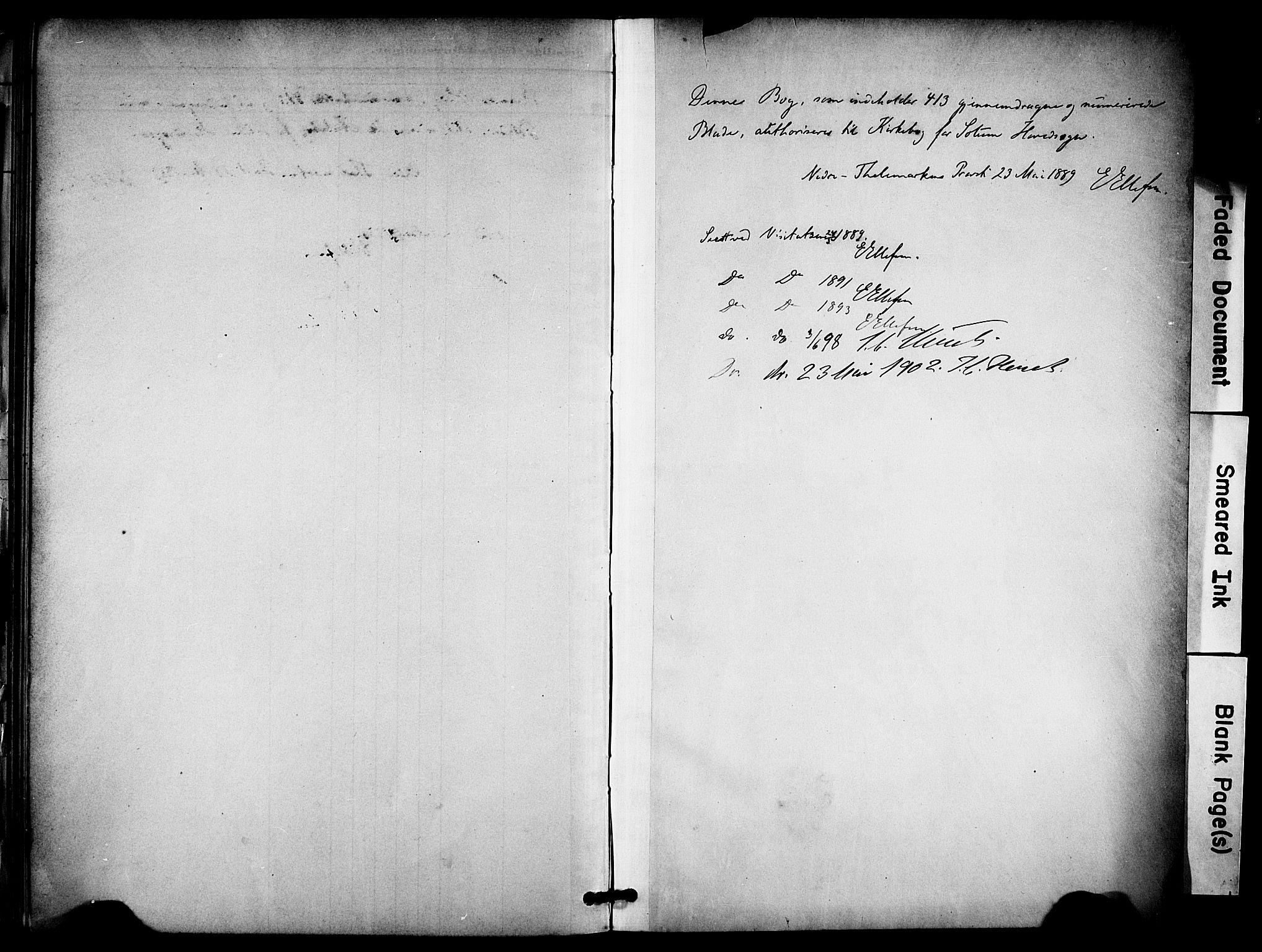 SAKO, Solum kirkebøker, F/Fa/L0010: Ministerialbok nr. I 10, 1888-1898