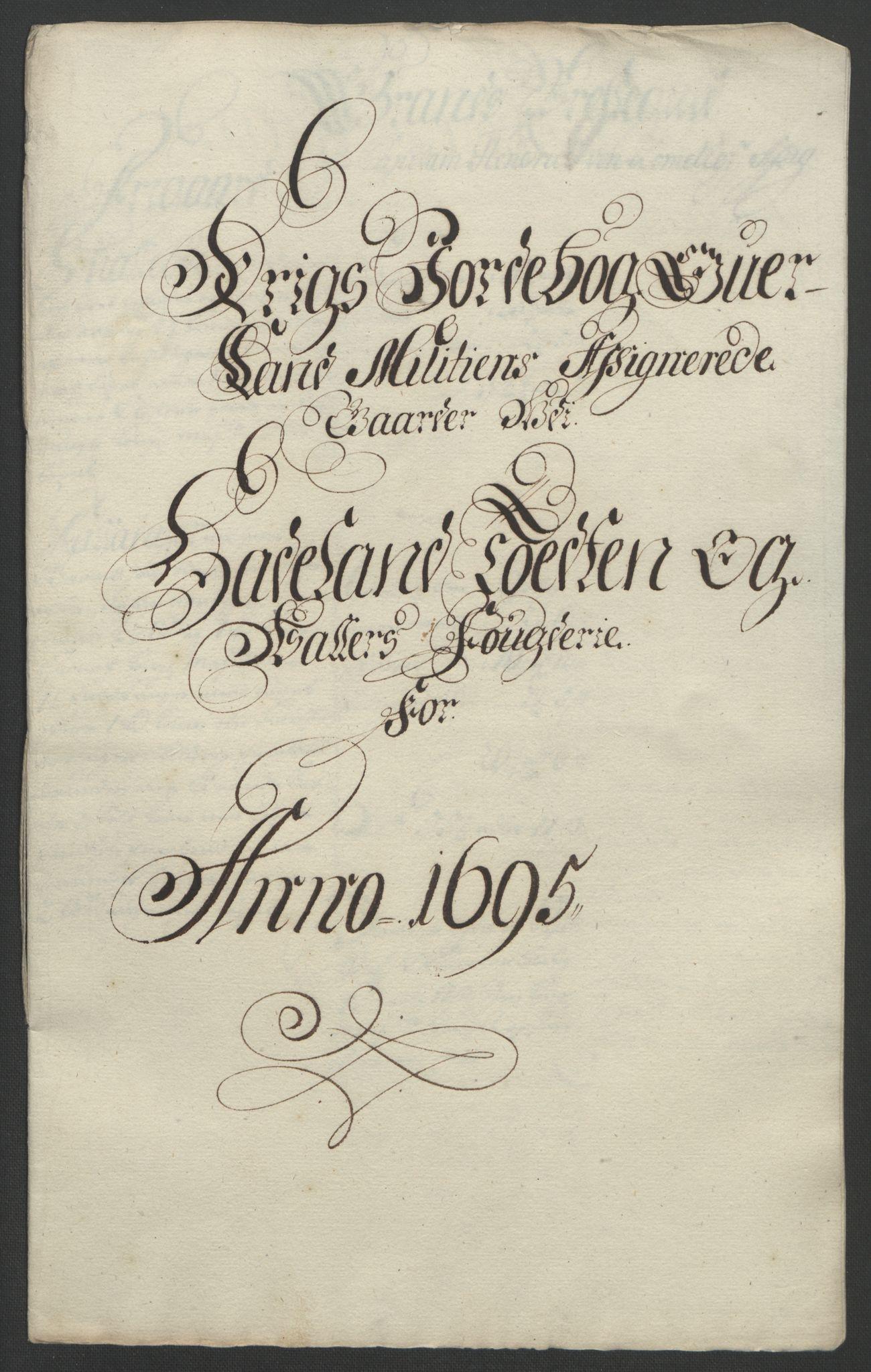 RA, Rentekammeret inntil 1814, Reviderte regnskaper, Fogderegnskap, R18/L1293: Fogderegnskap Hadeland, Toten og Valdres, 1695, s. 156