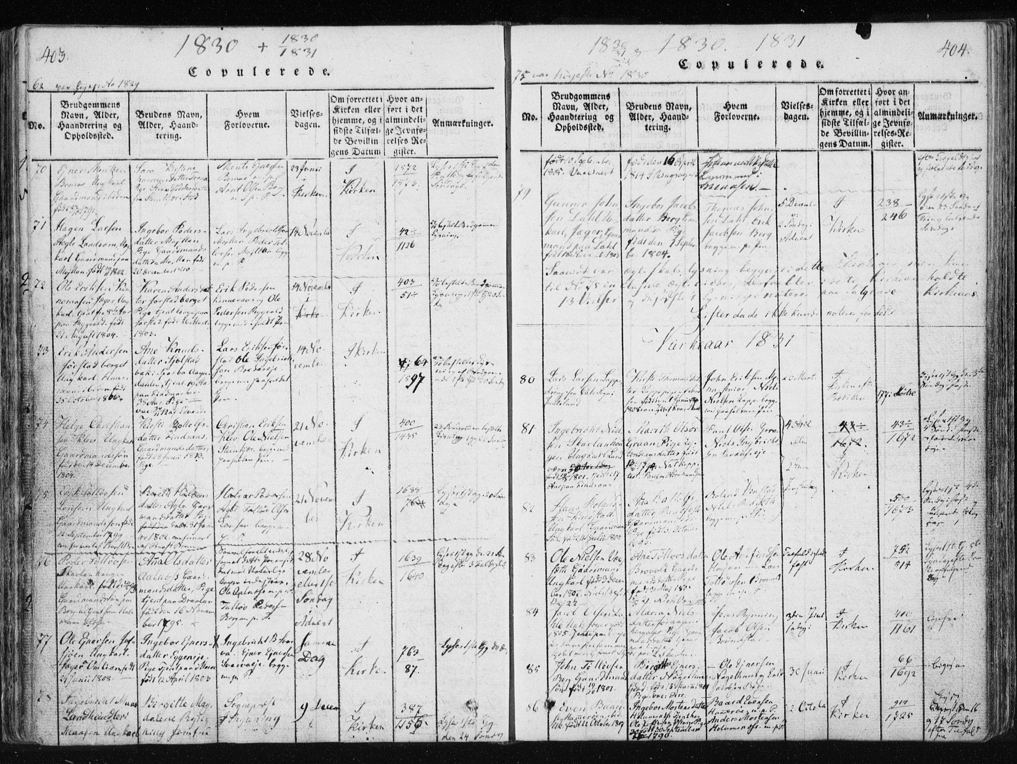 SAT, Ministerialprotokoller, klokkerbøker og fødselsregistre - Nord-Trøndelag, 749/L0469: Ministerialbok nr. 749A03, 1817-1857, s. 403-404
