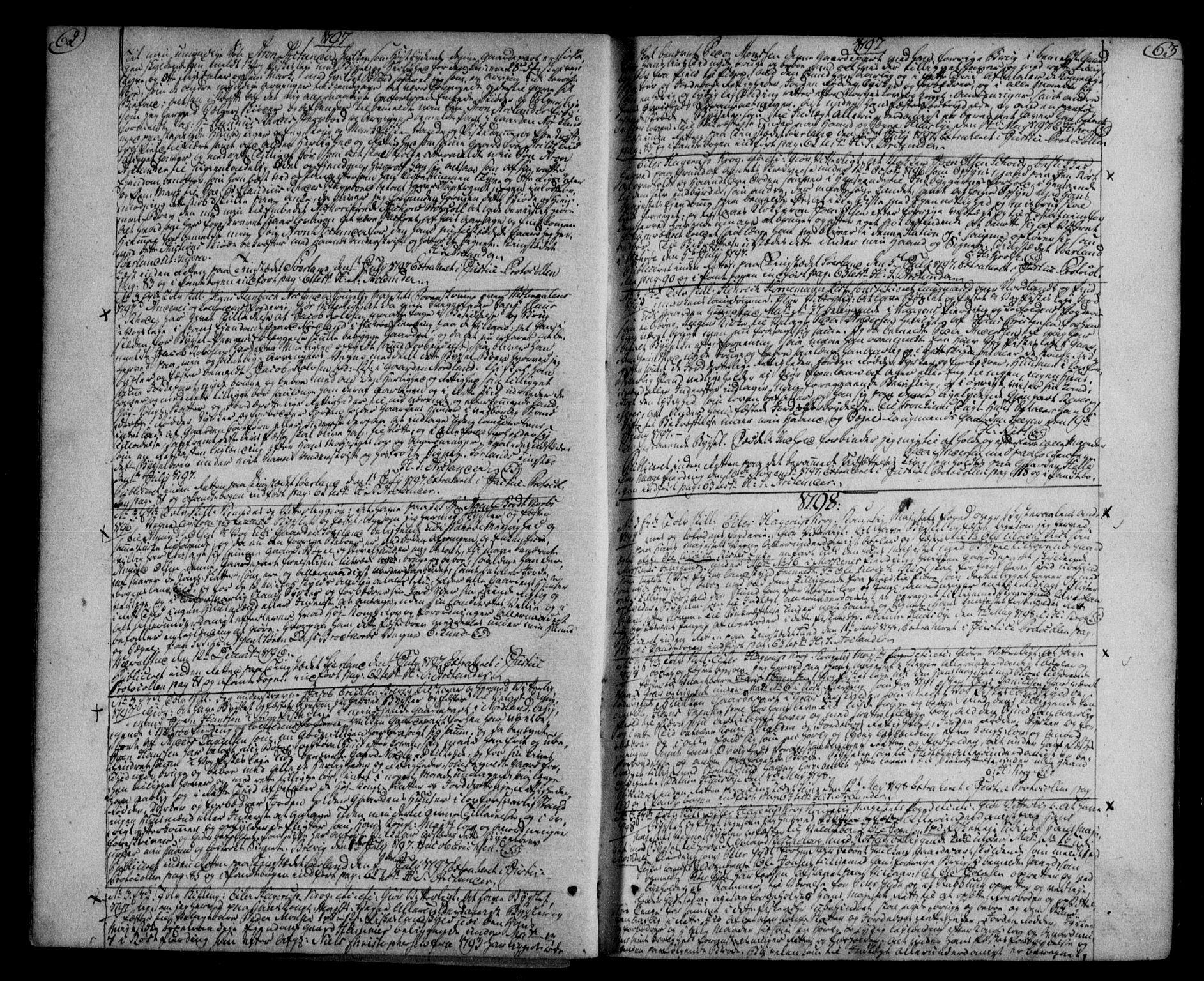 SAT, Vesterålen sorenskriveri, 2/2Ca/L0003: Pantebok nr. C, 1796-1807, s. 62-63