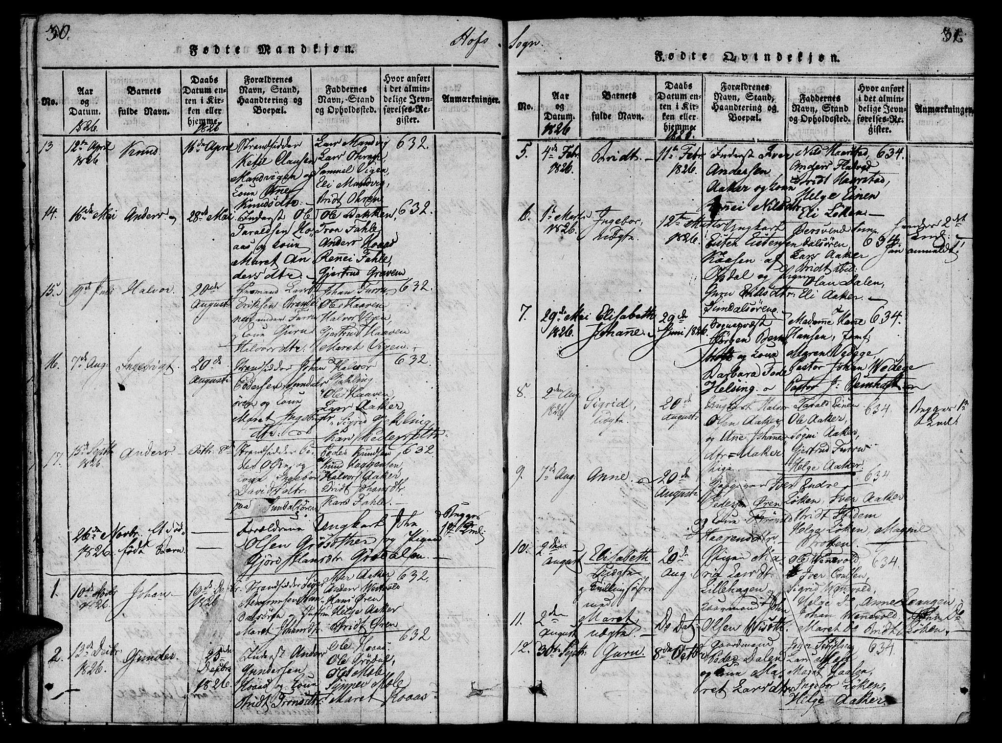 SAT, Ministerialprotokoller, klokkerbøker og fødselsregistre - Møre og Romsdal, 590/L1009: Ministerialbok nr. 590A03 /1, 1819-1832, s. 30-31