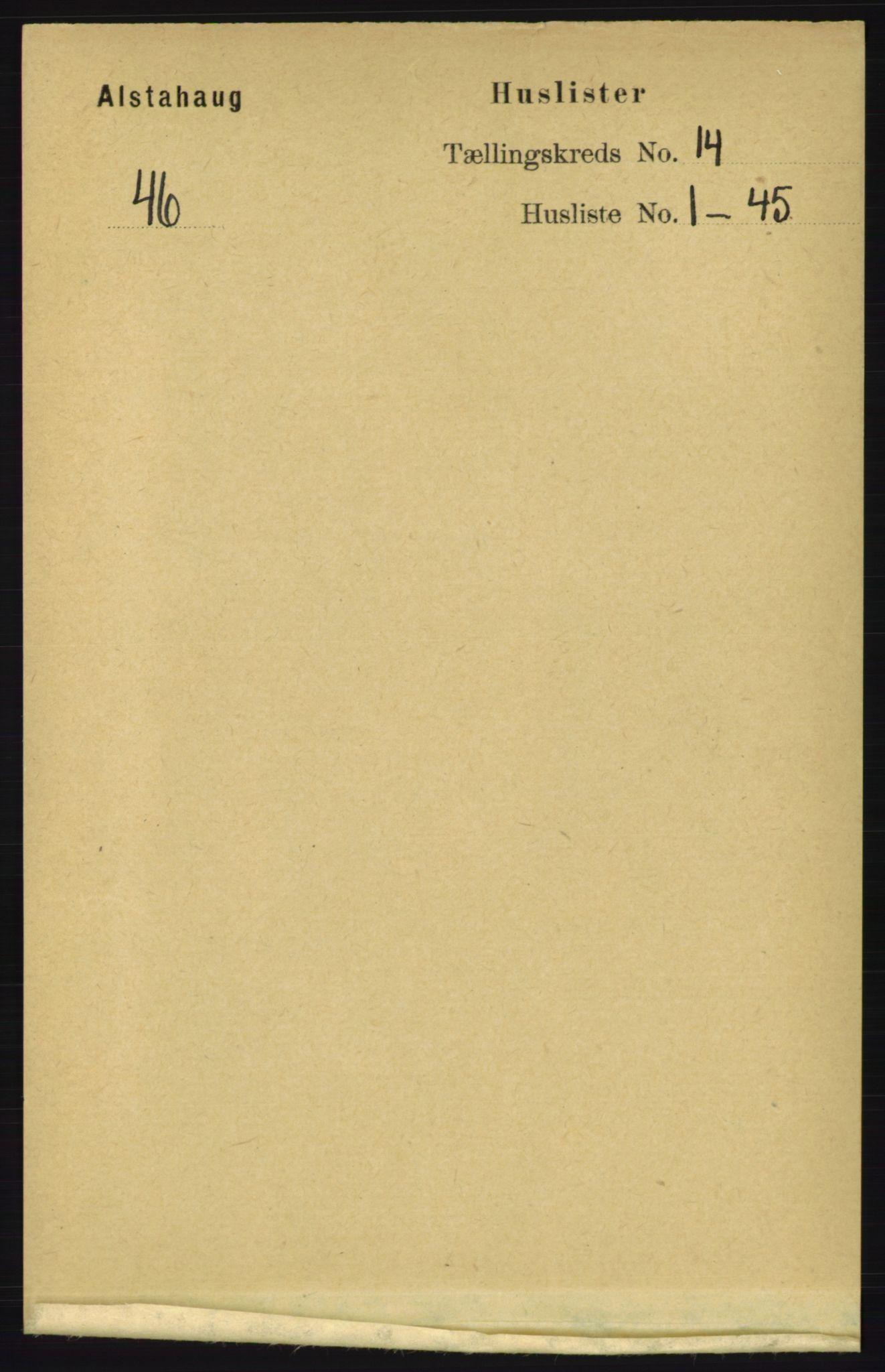 RA, Folketelling 1891 for 1820 Alstahaug herred, 1891, s. 4886