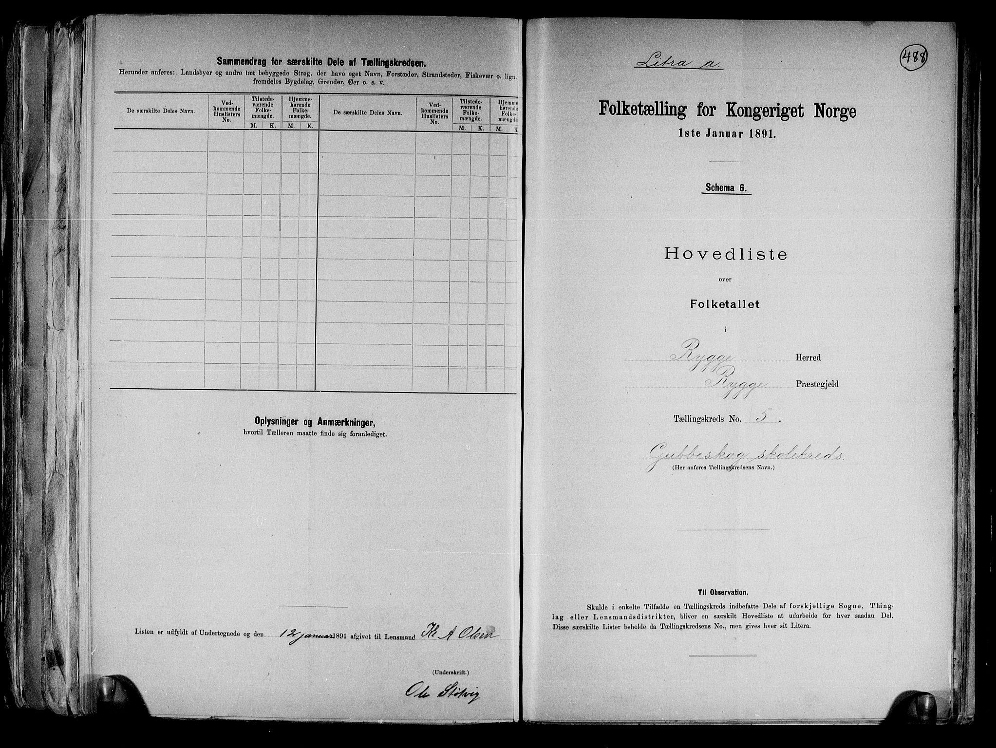 RA, Folketelling 1891 for 0136 Rygge herred, 1891, s. 16