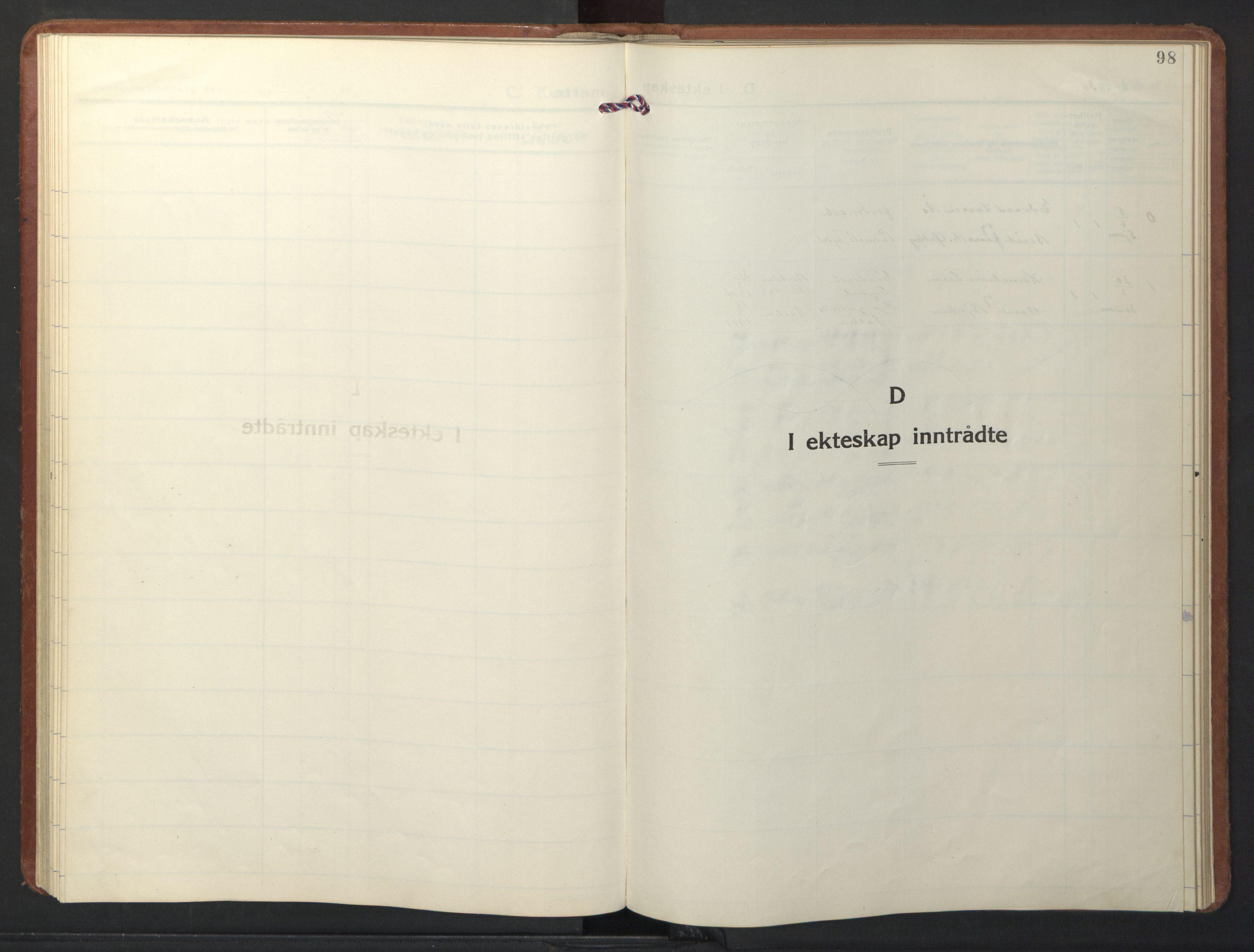 SAT, Ministerialprotokoller, klokkerbøker og fødselsregistre - Sør-Trøndelag, 698/L1169: Klokkerbok nr. 698C06, 1930-1949, s. 98