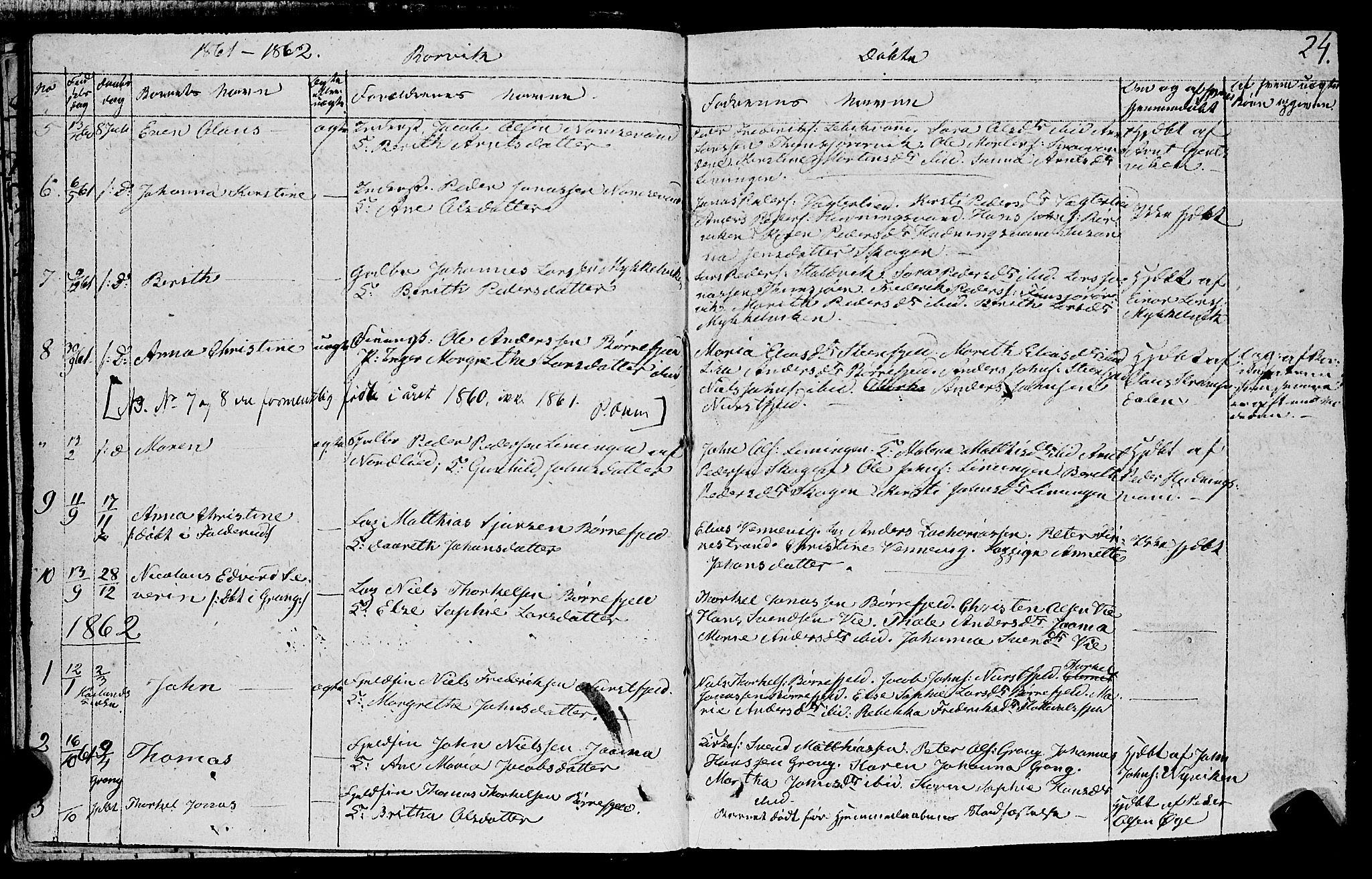 SAT, Ministerialprotokoller, klokkerbøker og fødselsregistre - Nord-Trøndelag, 762/L0538: Ministerialbok nr. 762A02 /1, 1833-1879, s. 24