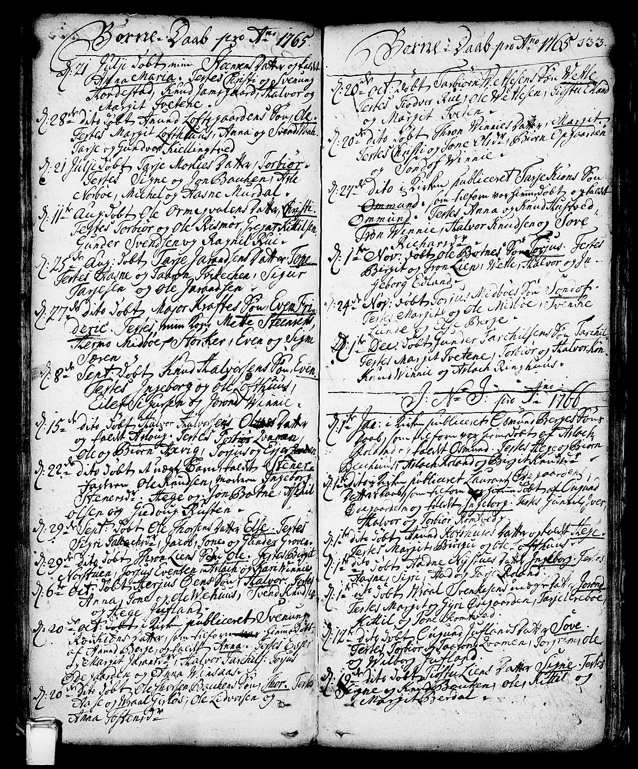 SAKO, Vinje kirkebøker, F/Fa/L0001: Ministerialbok nr. I 1, 1717-1766, s. 133