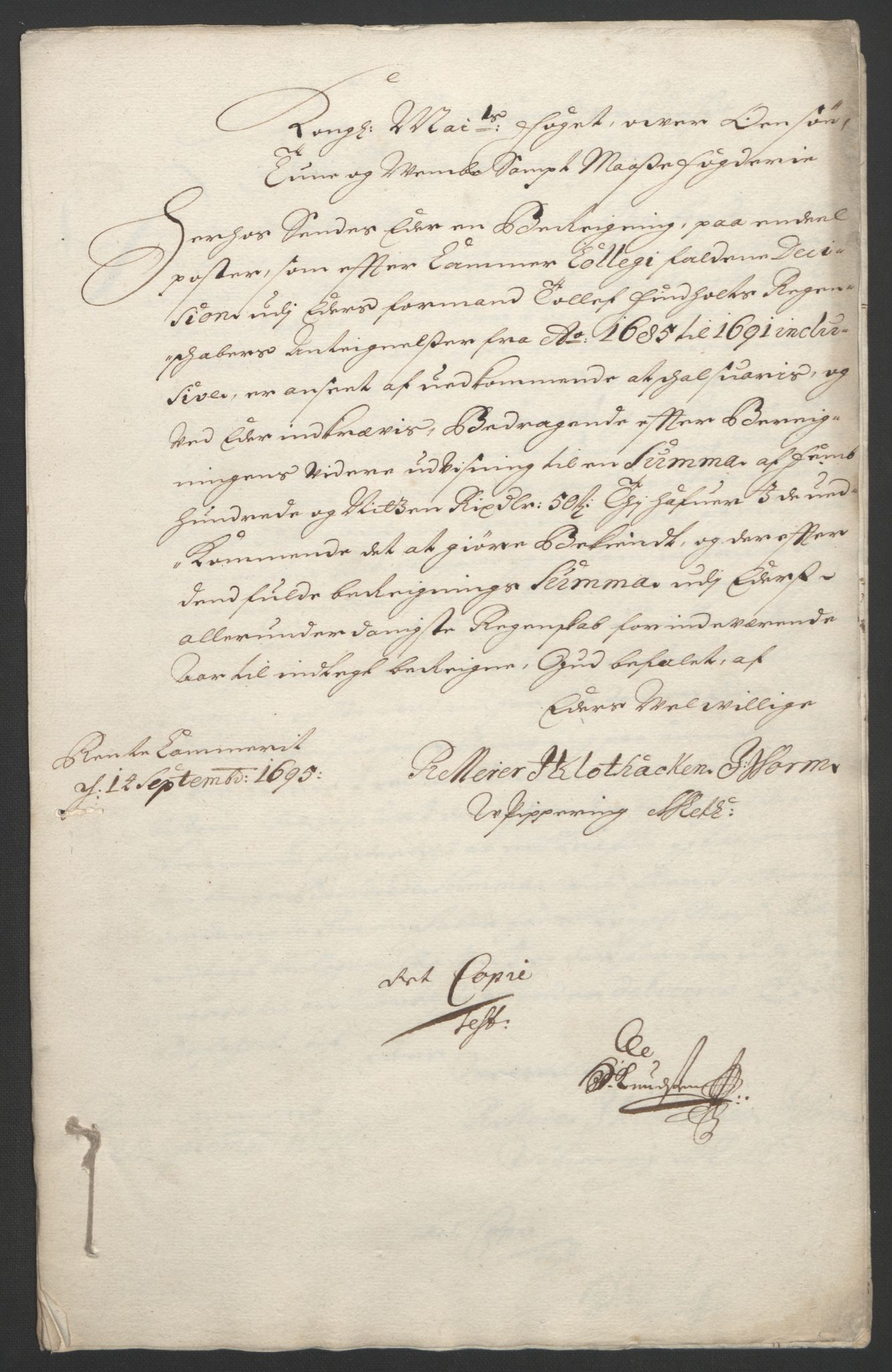 RA, Rentekammeret inntil 1814, Reviderte regnskaper, Fogderegnskap, R04/L0122: Fogderegnskap Moss, Onsøy, Tune, Veme og Åbygge, 1695, s. 314
