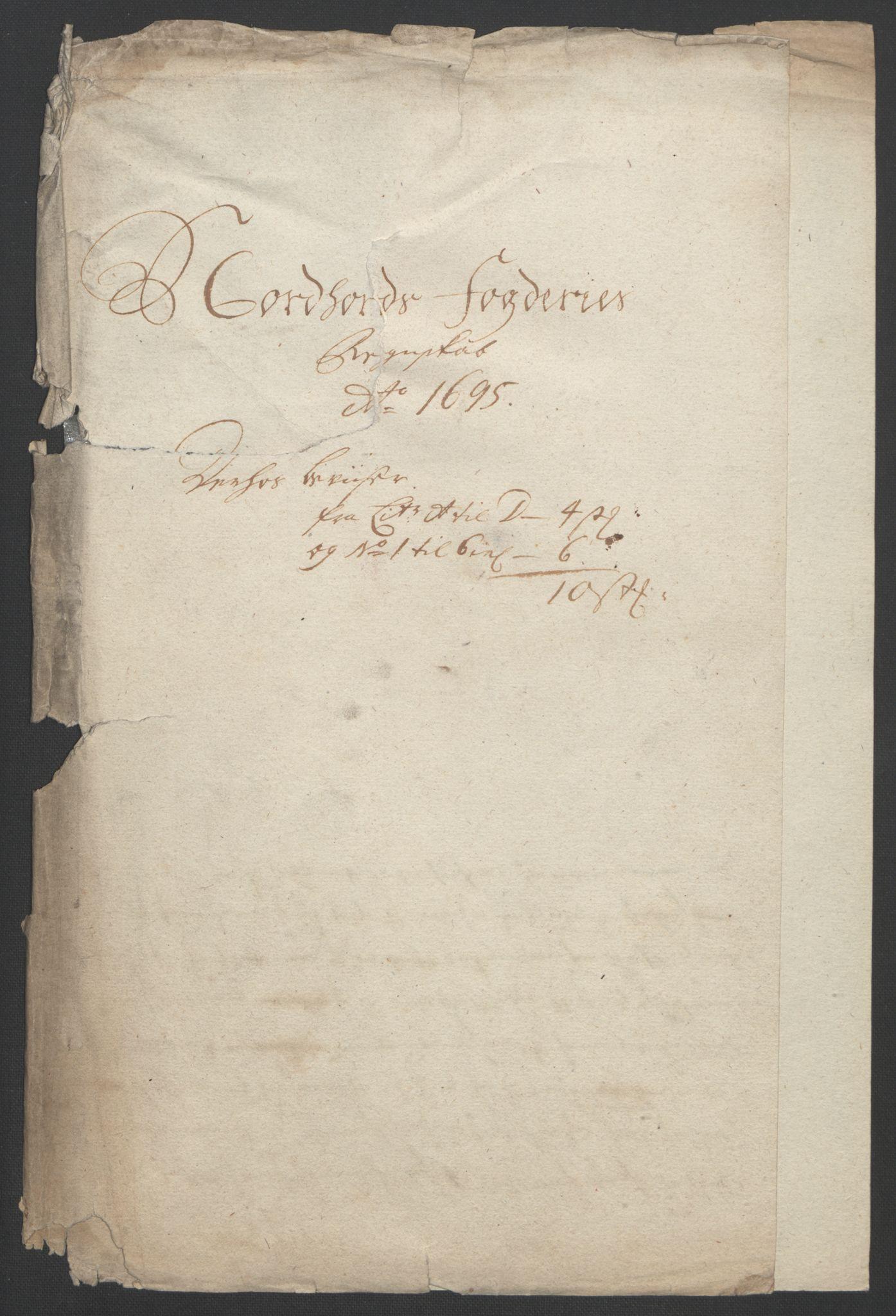 RA, Rentekammeret inntil 1814, Reviderte regnskaper, Fogderegnskap, R51/L3183: Fogderegnskap Nordhordland og Voss, 1695-1697, s. 114