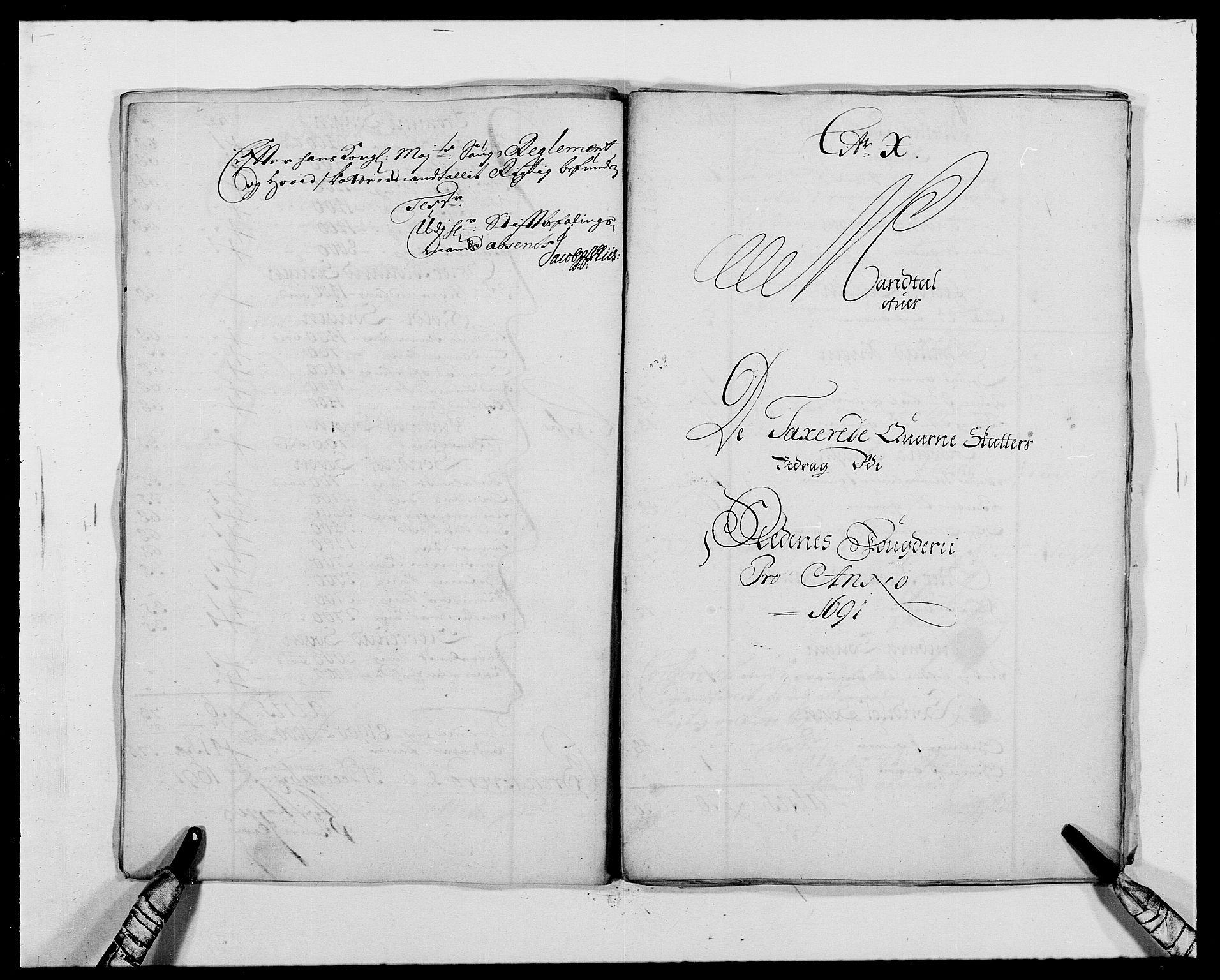 RA, Rentekammeret inntil 1814, Reviderte regnskaper, Fogderegnskap, R39/L2311: Fogderegnskap Nedenes, 1690-1692, s. 93