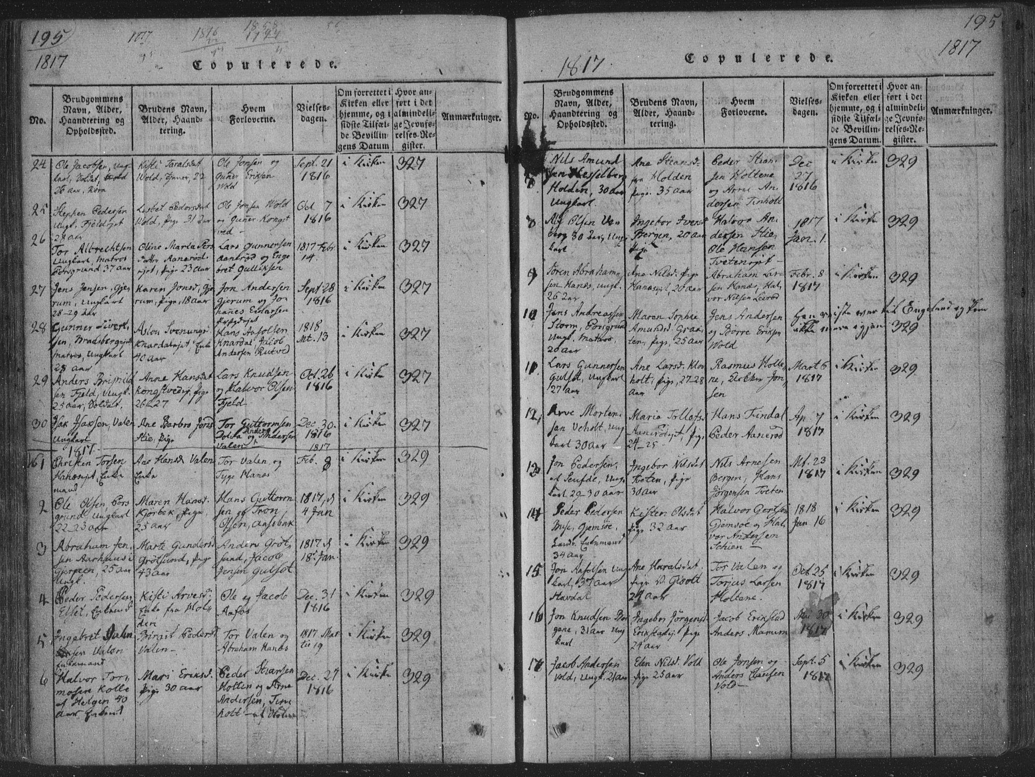 SAKO, Solum kirkebøker, F/Fa/L0004: Ministerialbok nr. I 4, 1814-1833, s. 195